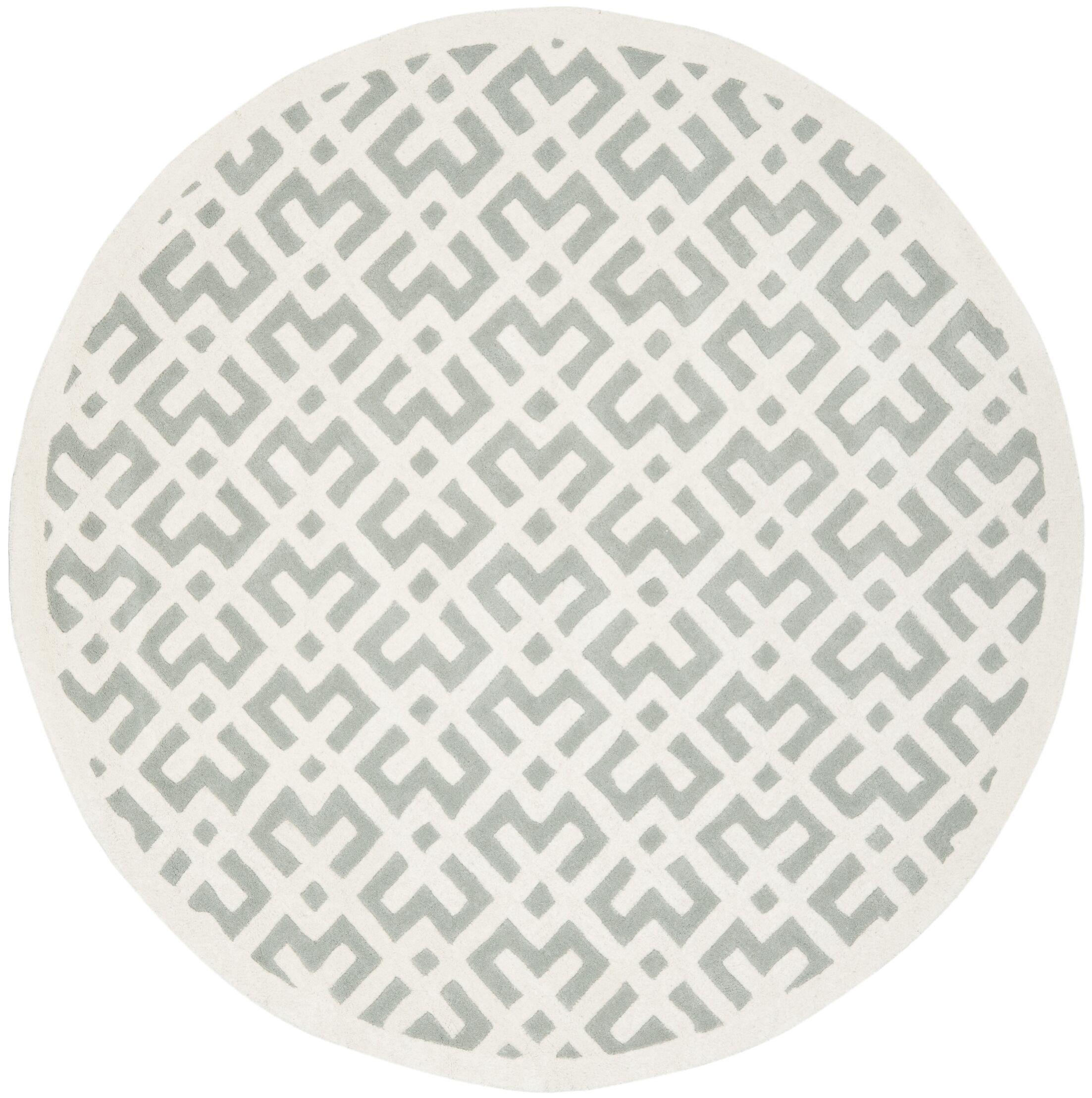 Wilkin Grey / Ivory Rug Rug Size: Rectangle 8' x 10'