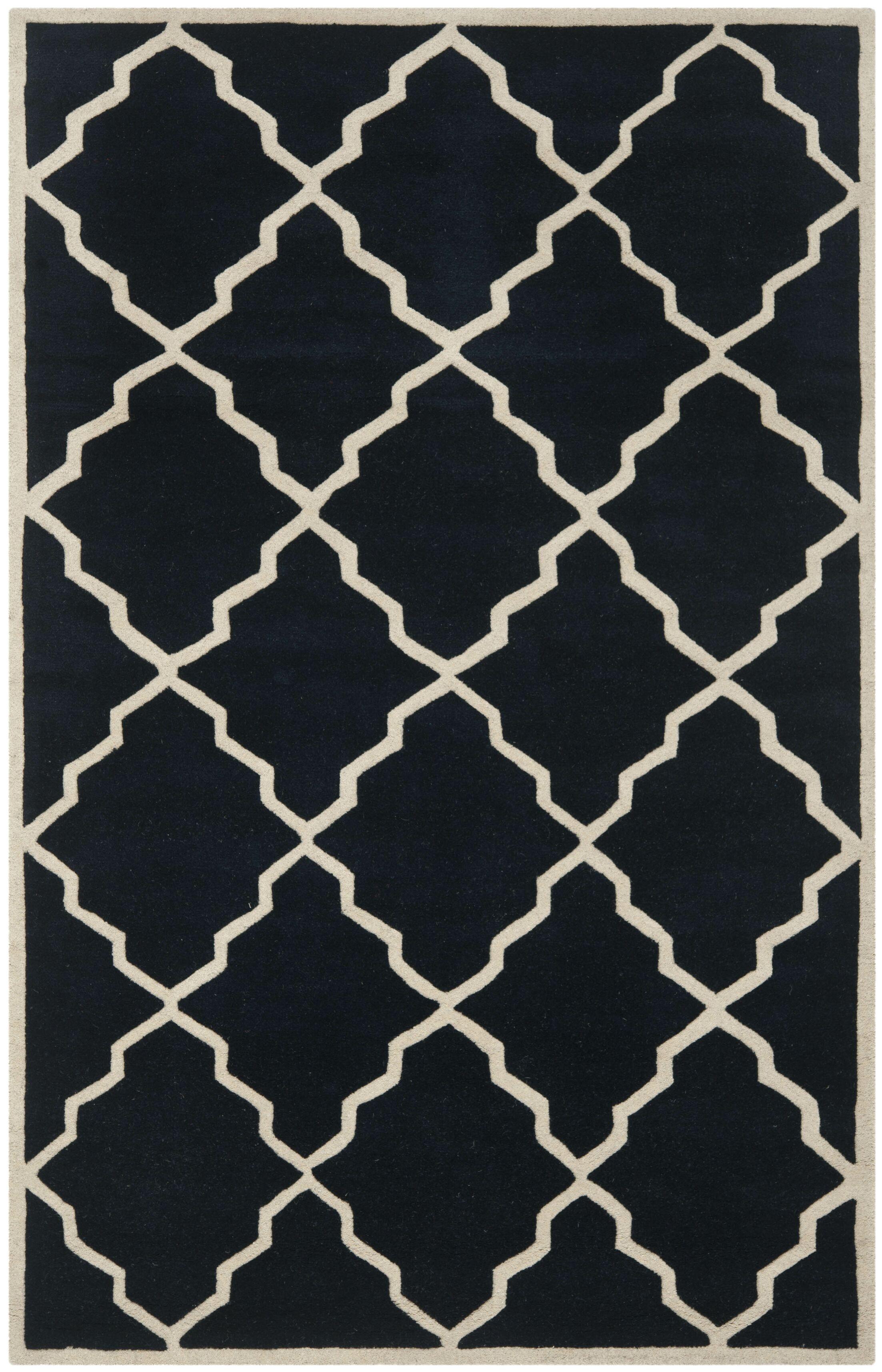 Wilkin Dark Blue Moroccan Rug Rug Size: Rectangle 8'9