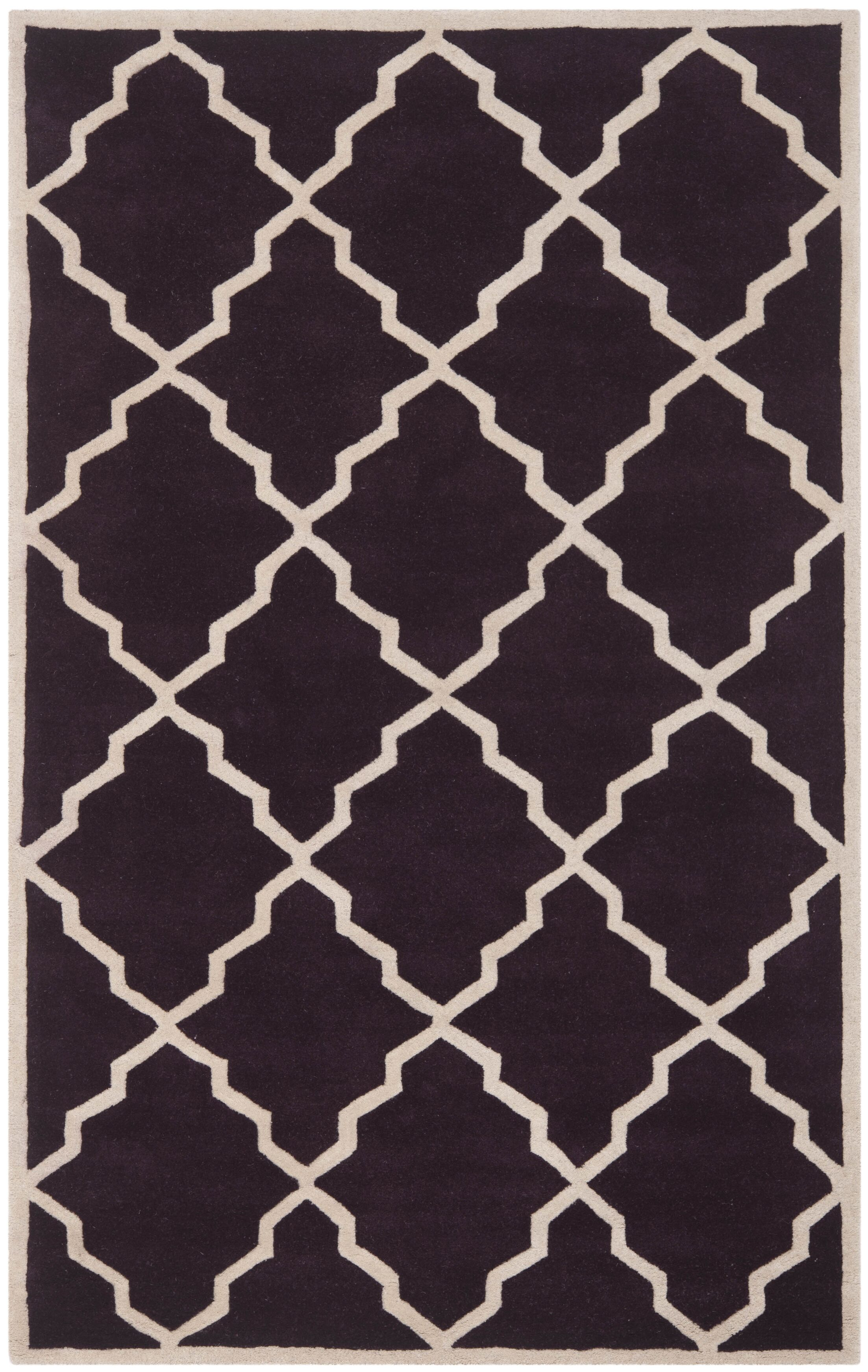 Wilkin Dark Purple Moroccan Rug Rug Size: Rectangle 5' x 8'