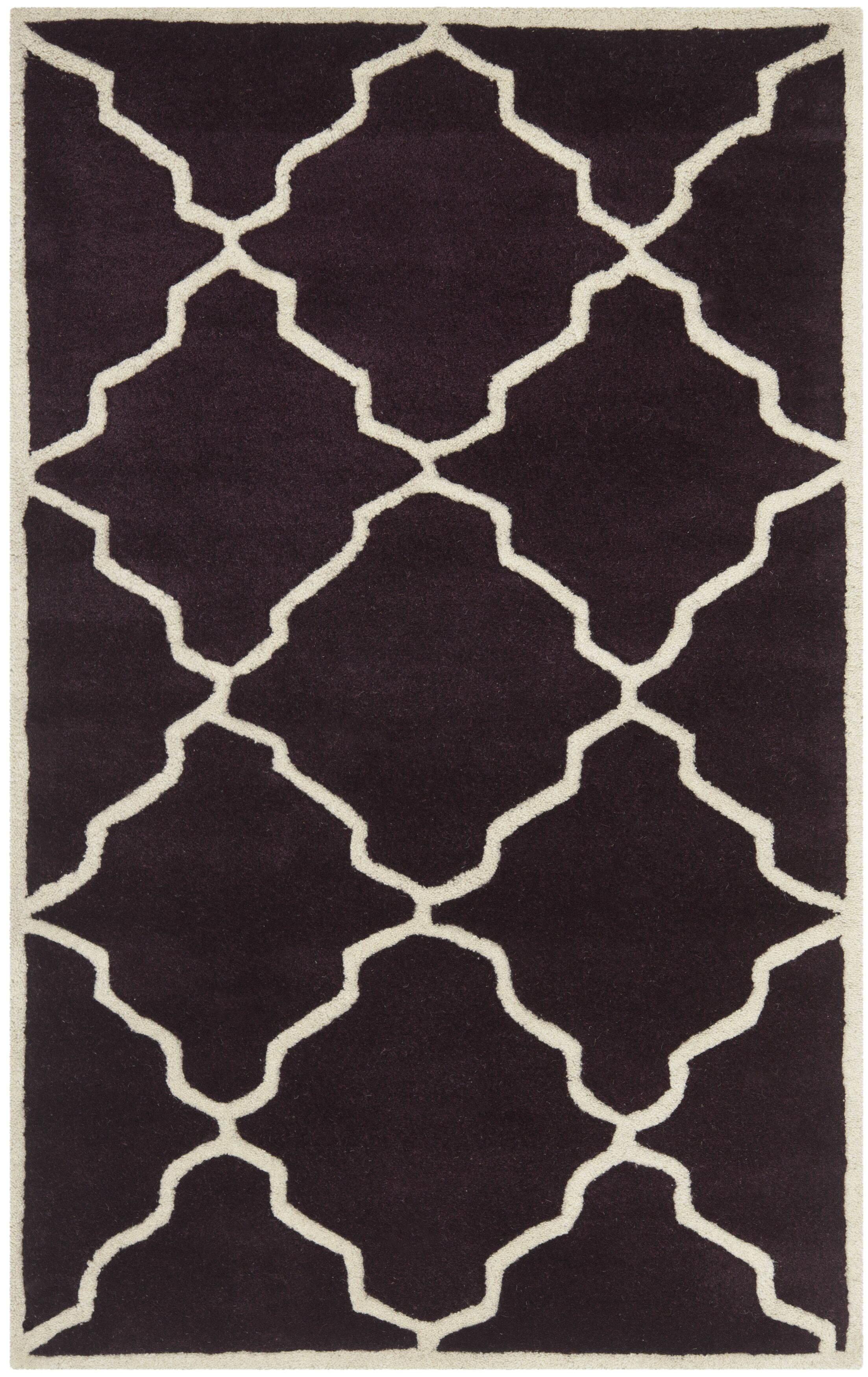 Wilkin Dark Purple Moroccan Rug Rug Size: Rectangle 3' x 5'
