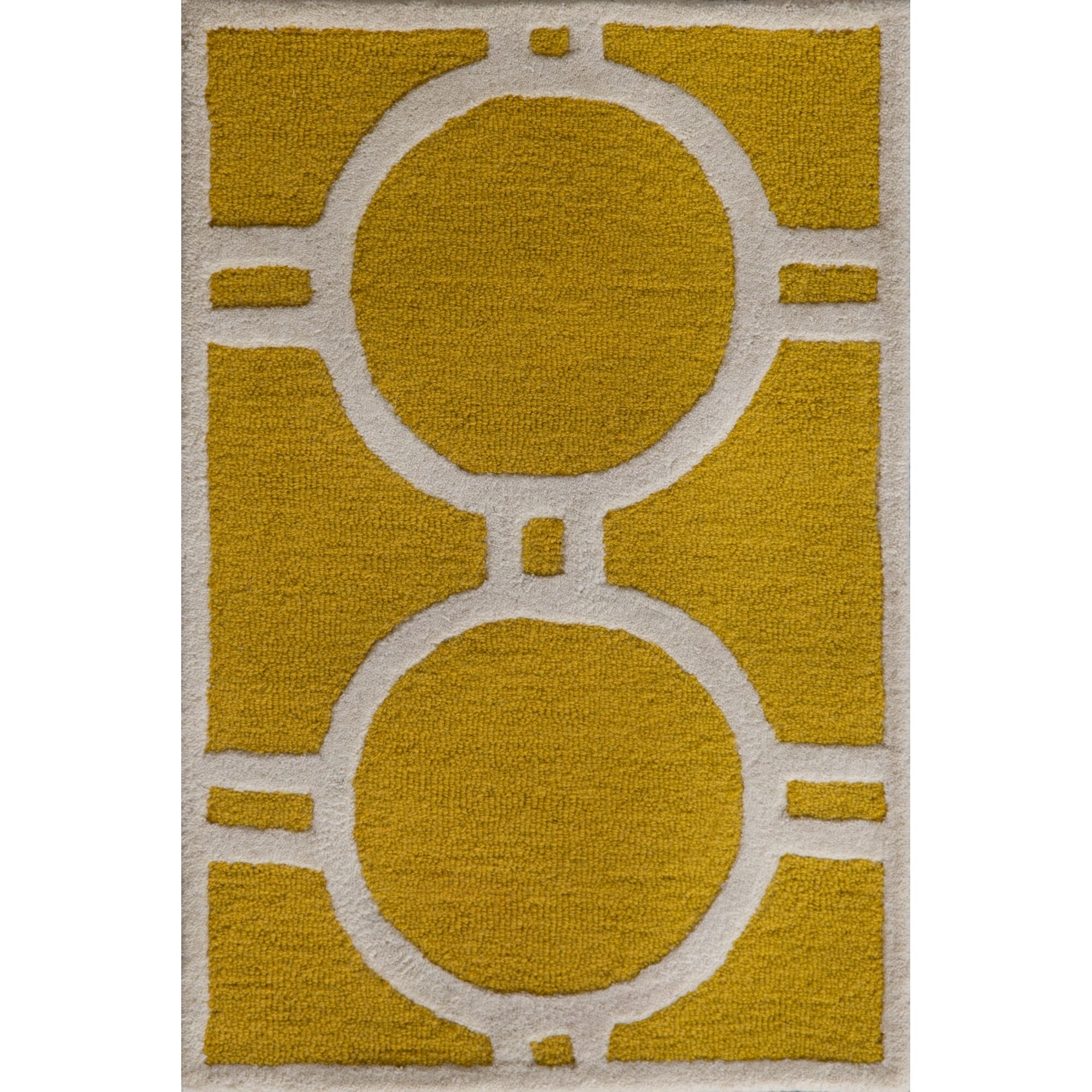 Martins Gold / Ivory Area Rug Rug Size: Rectangle 4' x 6'