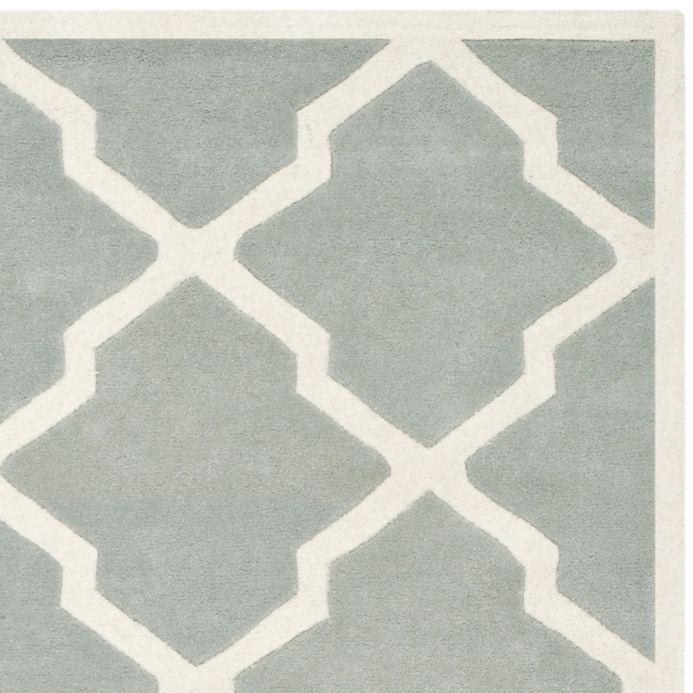 Wilkin Hand-Tufted Wool Gray/Ivory Area Rug Rug Size: Rectangle 10' x 14'