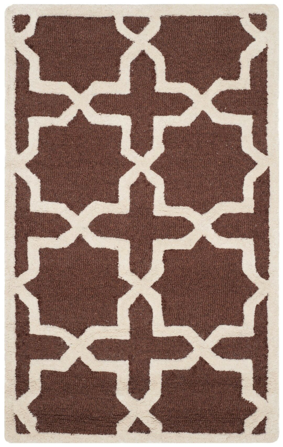 Brunswick Wool Brown/Ivory Area Rug Rug Size: Rectangle 5' x 8'