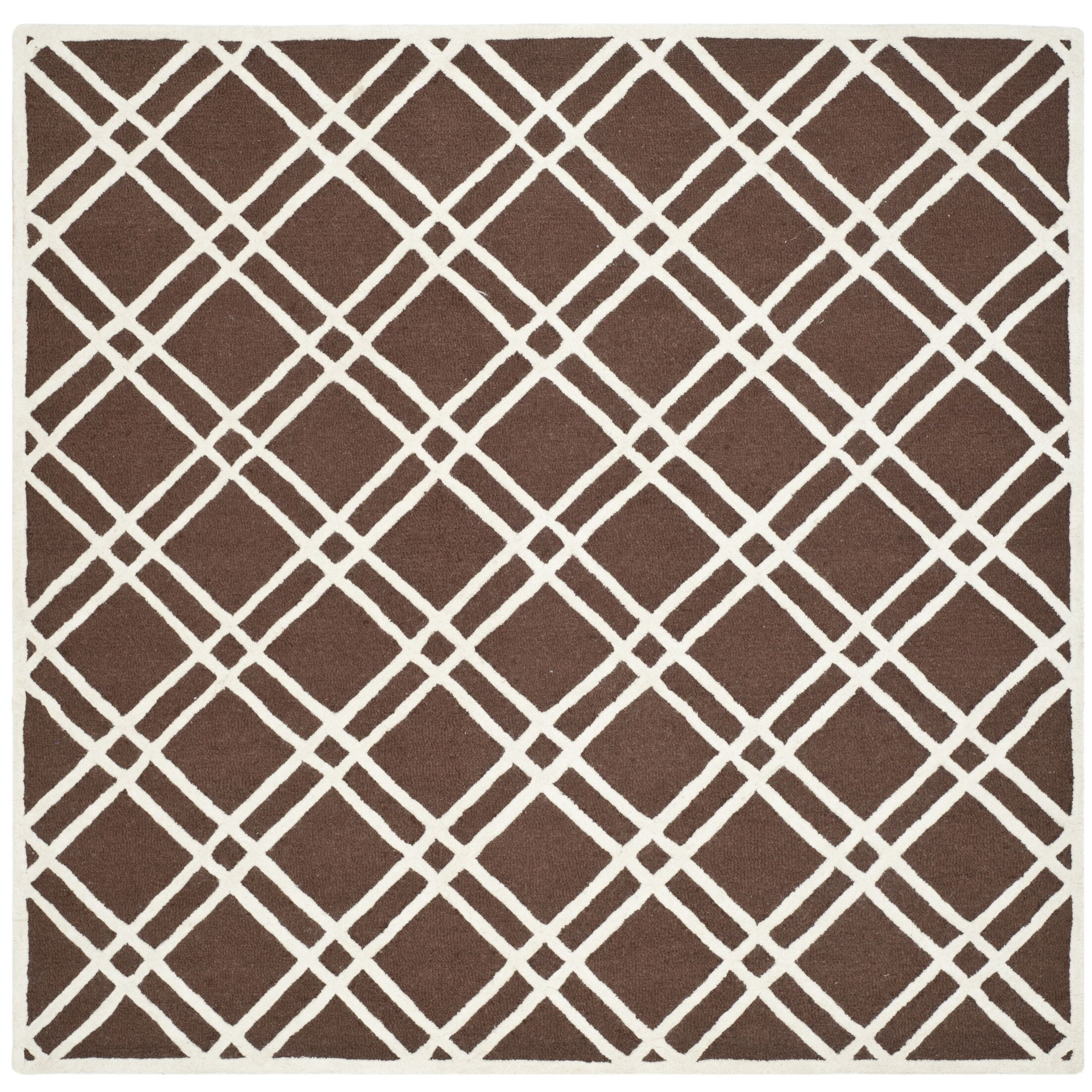 Martins Dark Brown Area Rug Rug Size: Square 8'