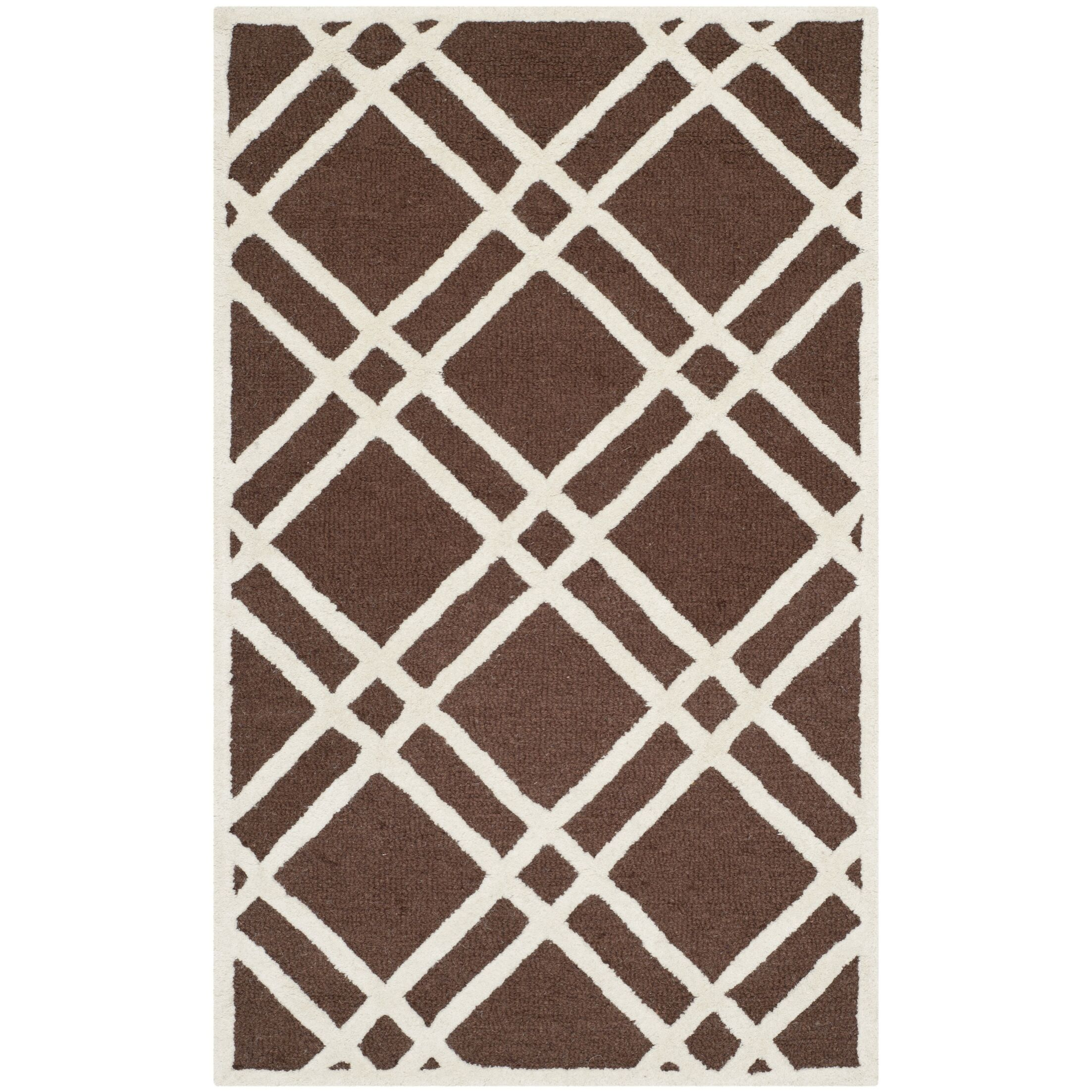 Martins Dark Brown Area Rug Rug Size: Rectangle 8' x 10'