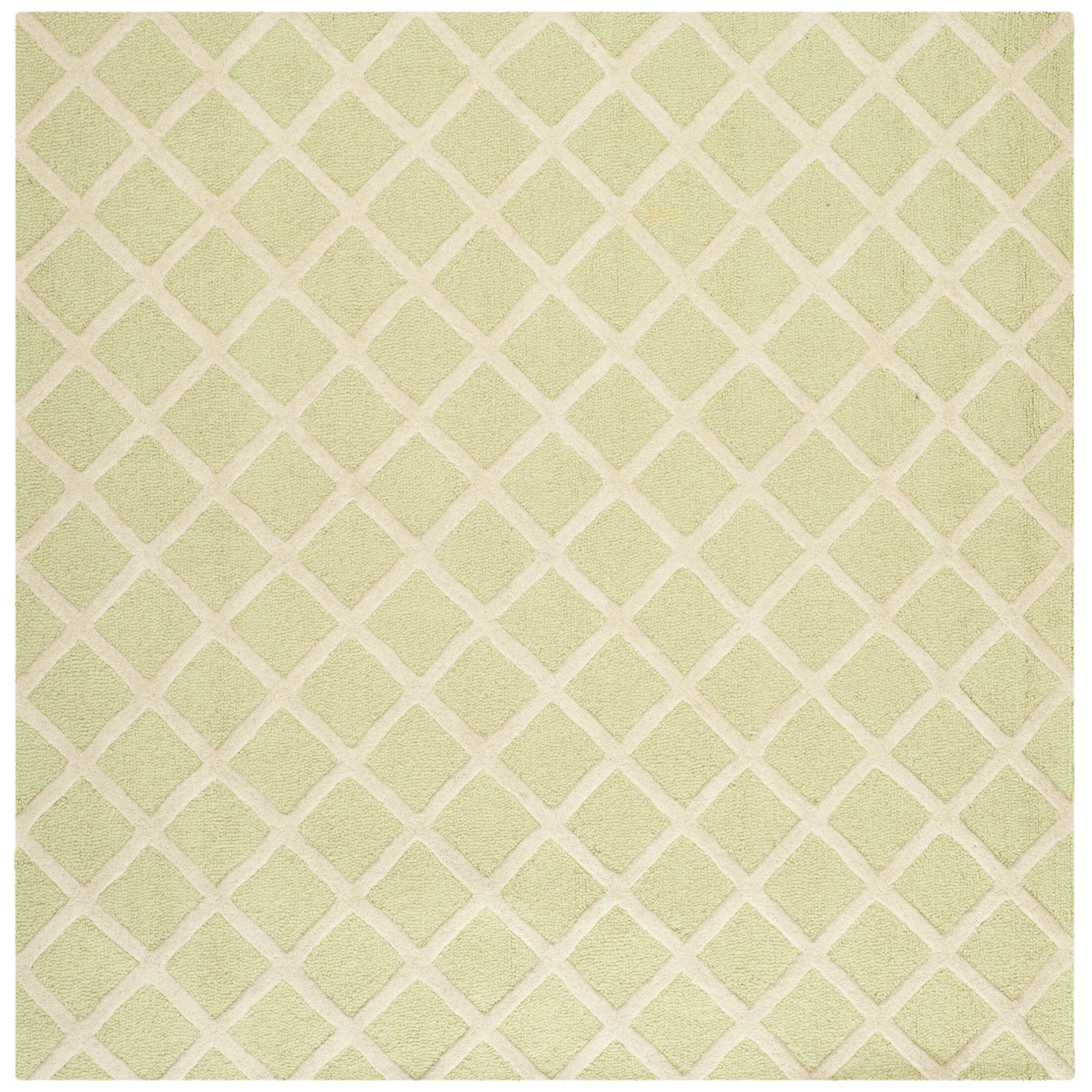 Martins Light Green & Ivory Area Rug Rug Size: Square 8'