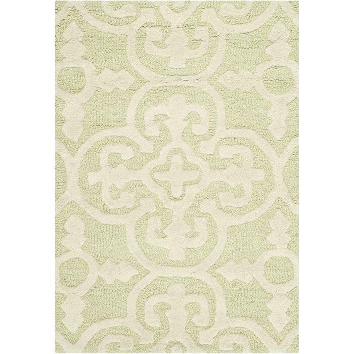 Marlen Light Green/Ivory Area Rug Rug Size: Rectangle 9' x 12'