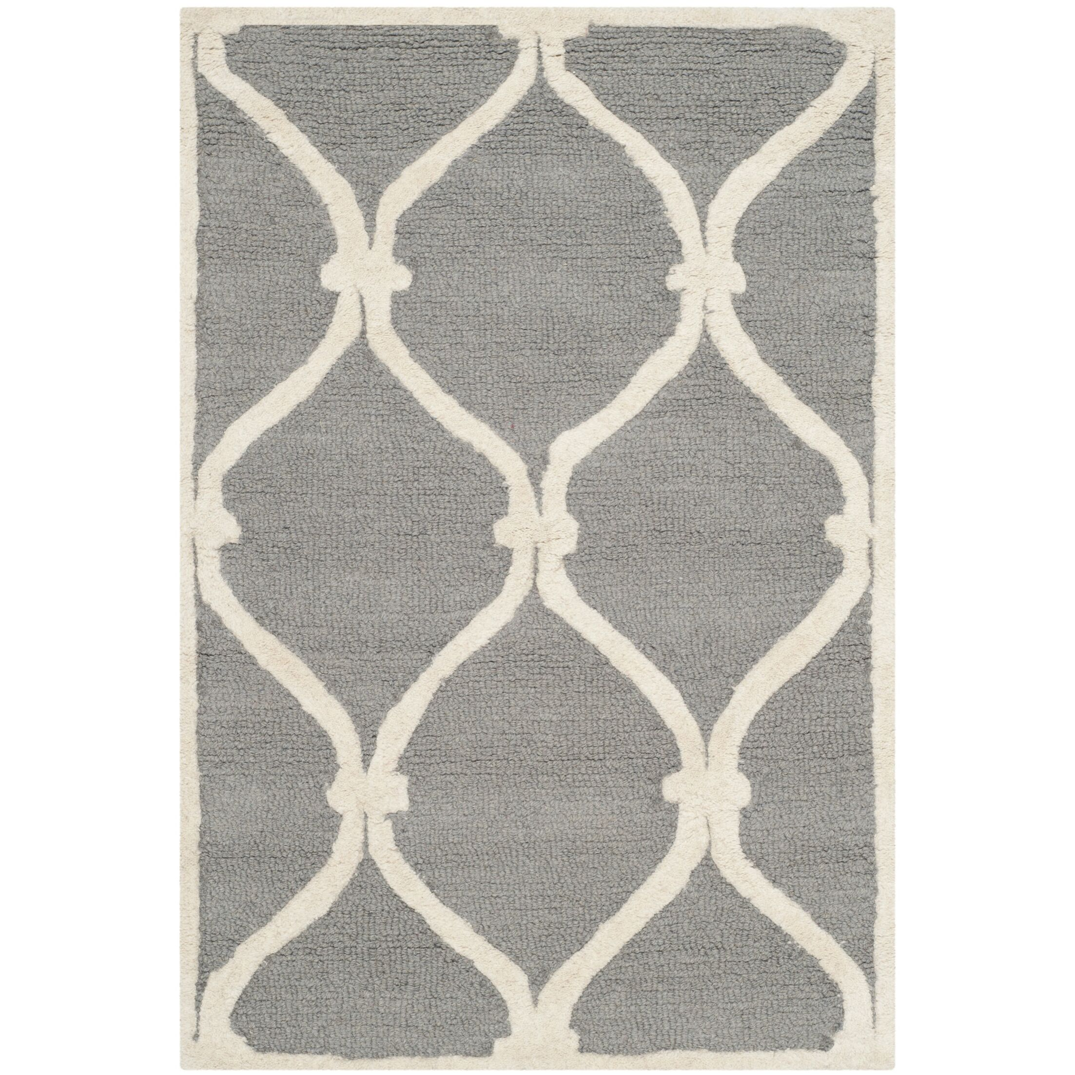 Martins Hand-Tufted Gray Area Rug Rug Size: Square 8'