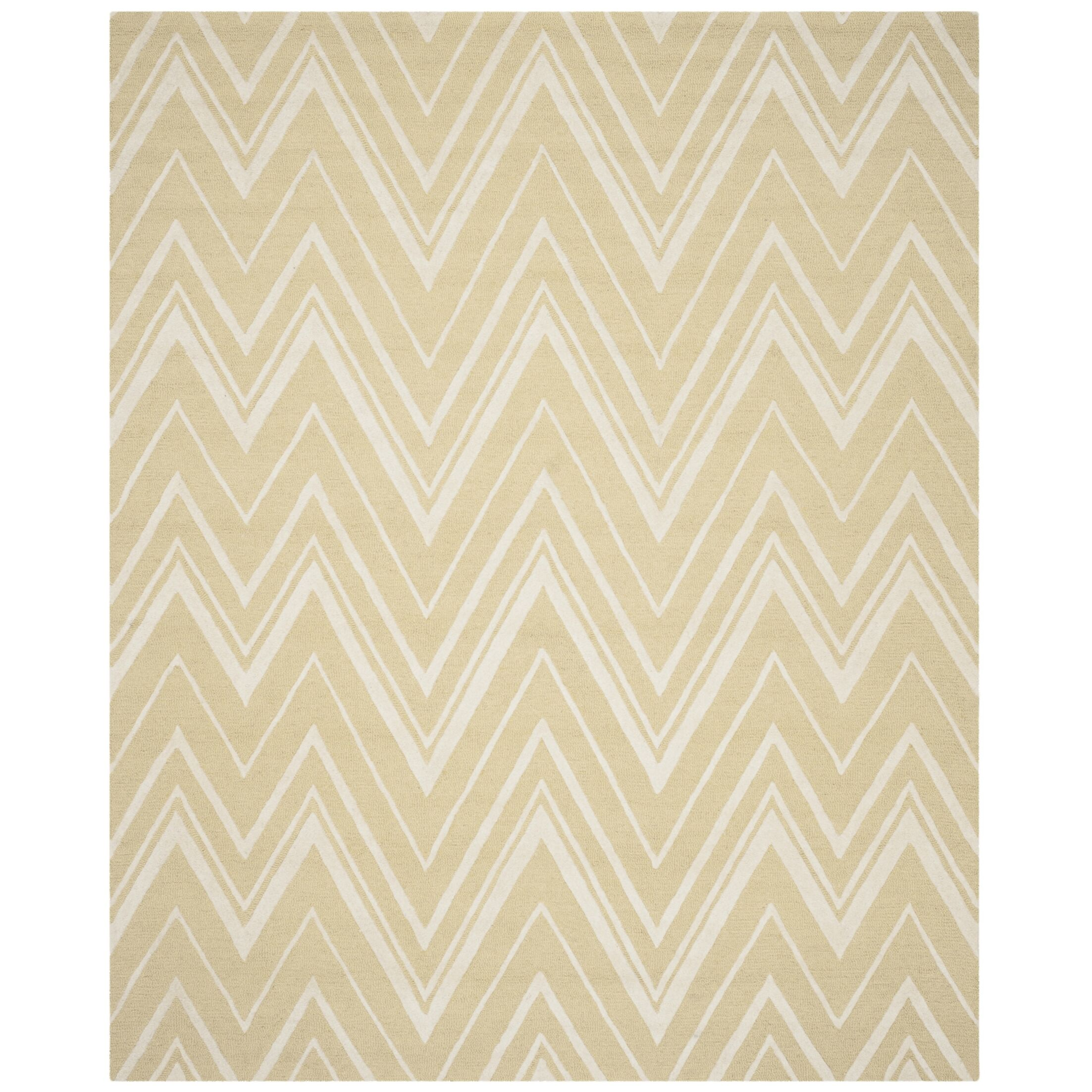 Martins Hand-Tufted Light Gold/Ivory Area Rug Rug Size: Rectangle 8' x 10'