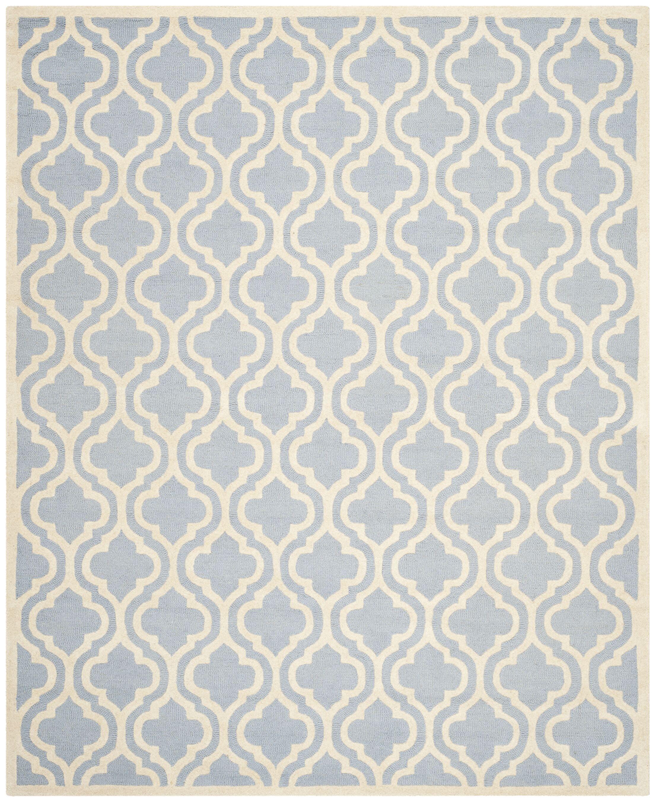 Martins Hand-Tufted Blue/Ivory Area Rug Rug Size: Rectangle 11'6