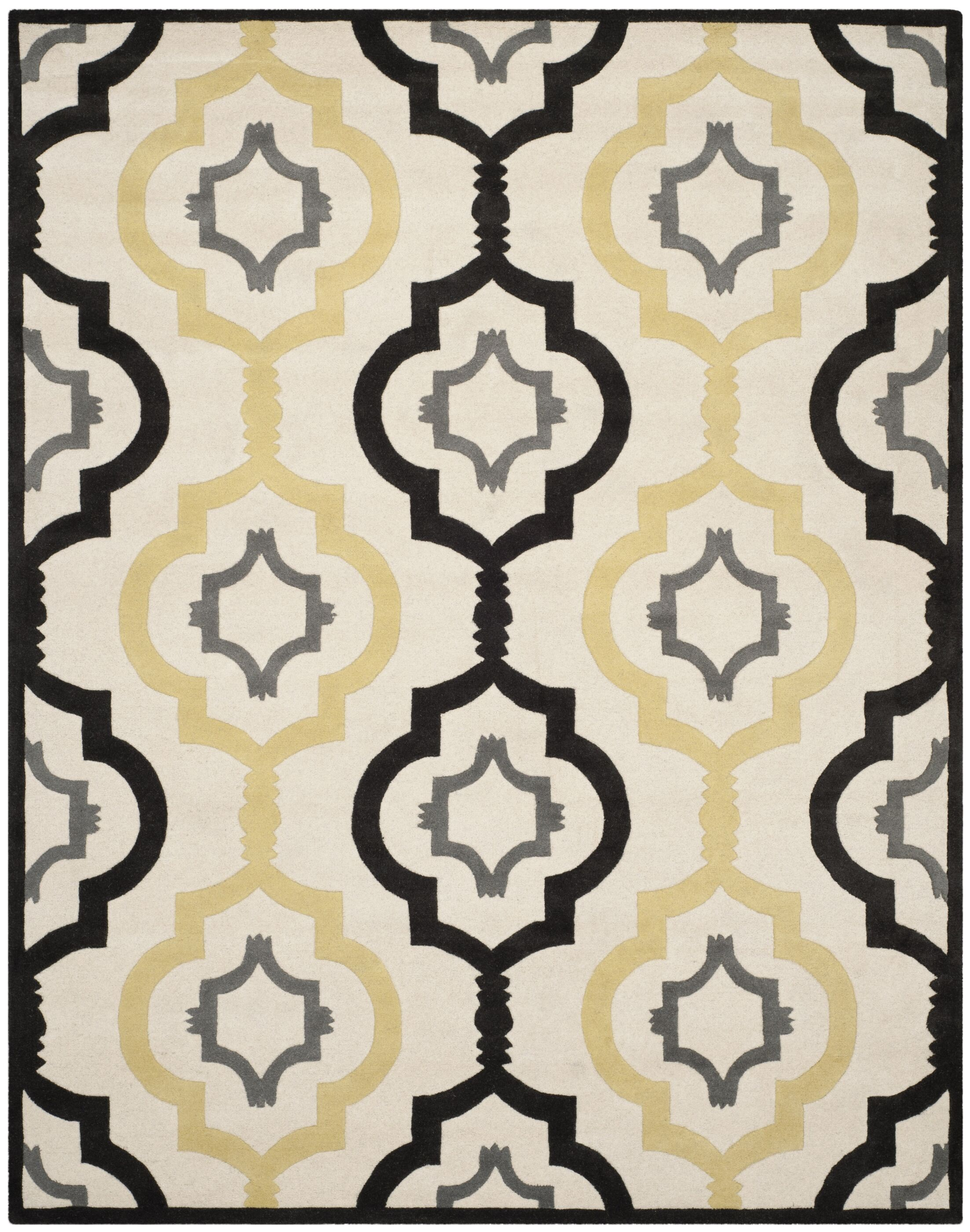 Wilkin Ivory / Multi Moroccan Rug Rug Size: Rectangle 8' x 10'