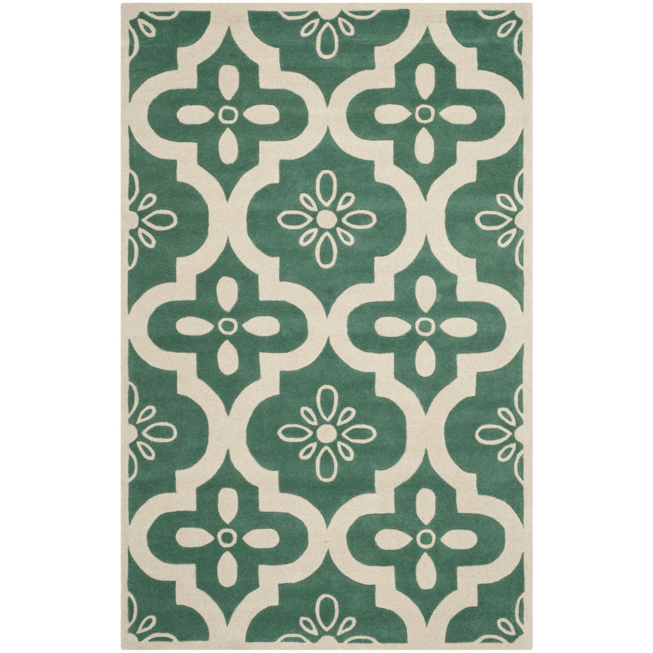Wilkin Moroccan Hand-Tufted Wool Tea/Ivory Area Rug Rug Size: Rectangle 5' x 8'