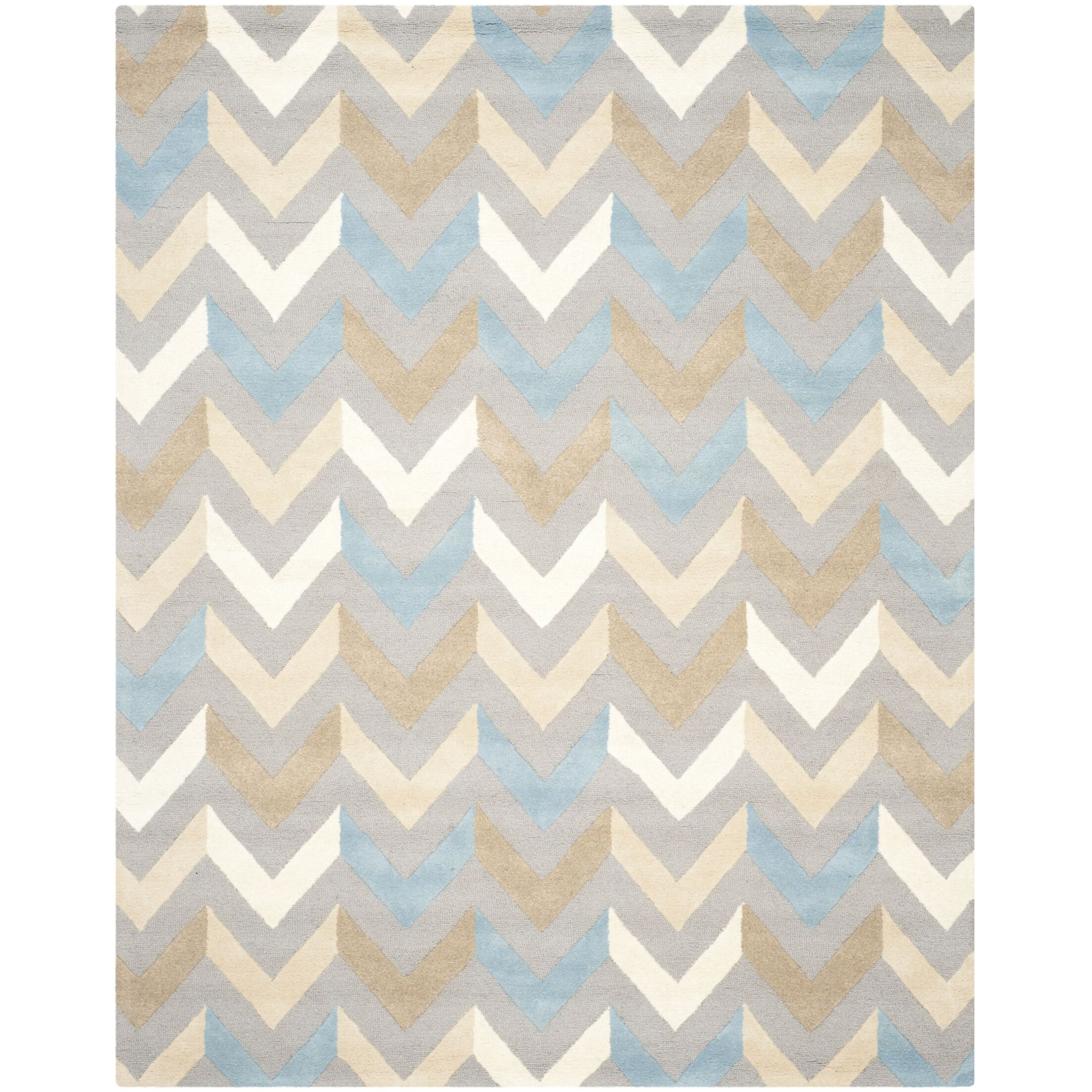 Martins Grey / Ivory Chevron Area Rug Rug Size: Rectangle 4' x 6'