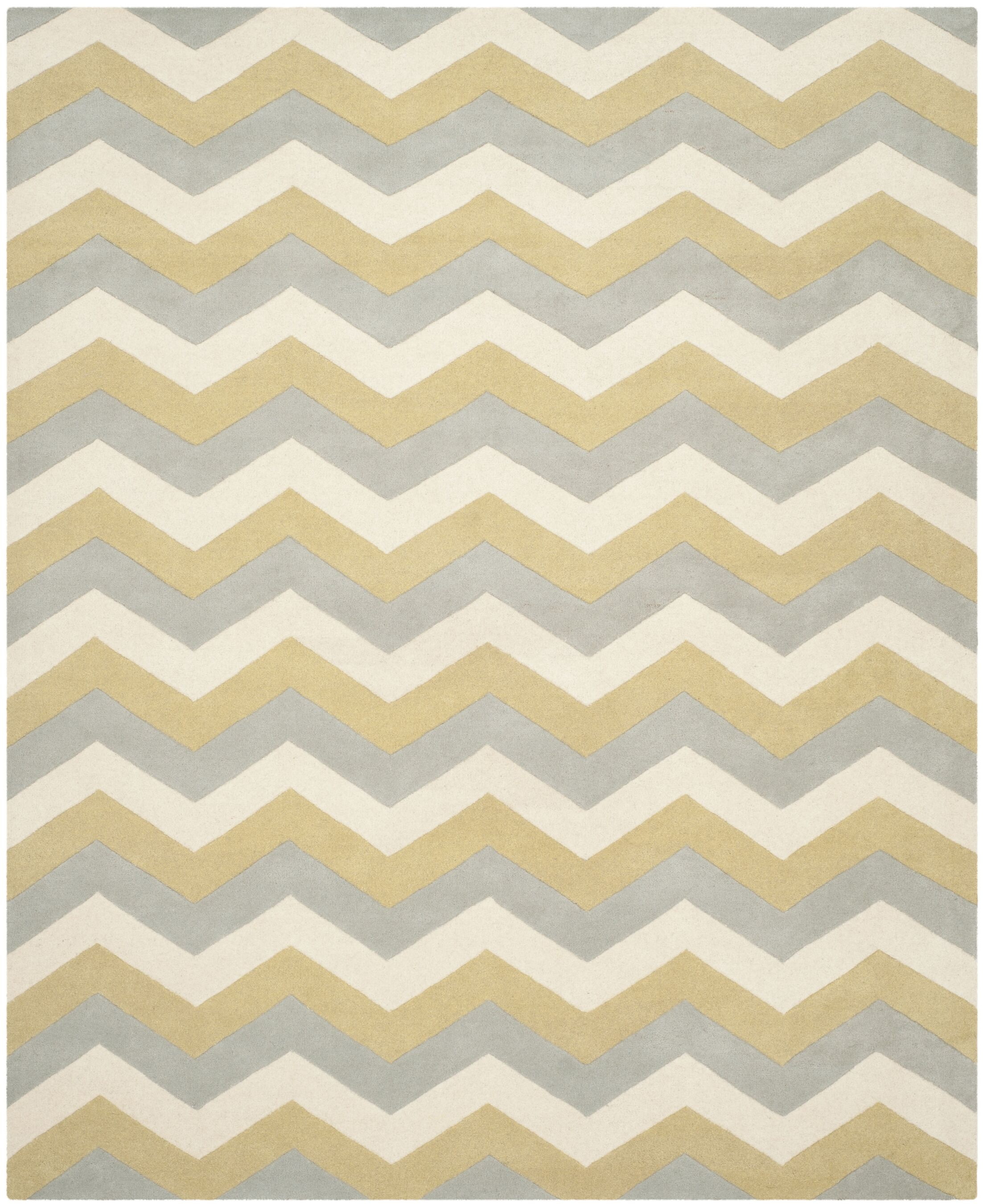 Wilkin Chevron Contemporary Area Rug Rug Size: Rectangle 9' x 12'