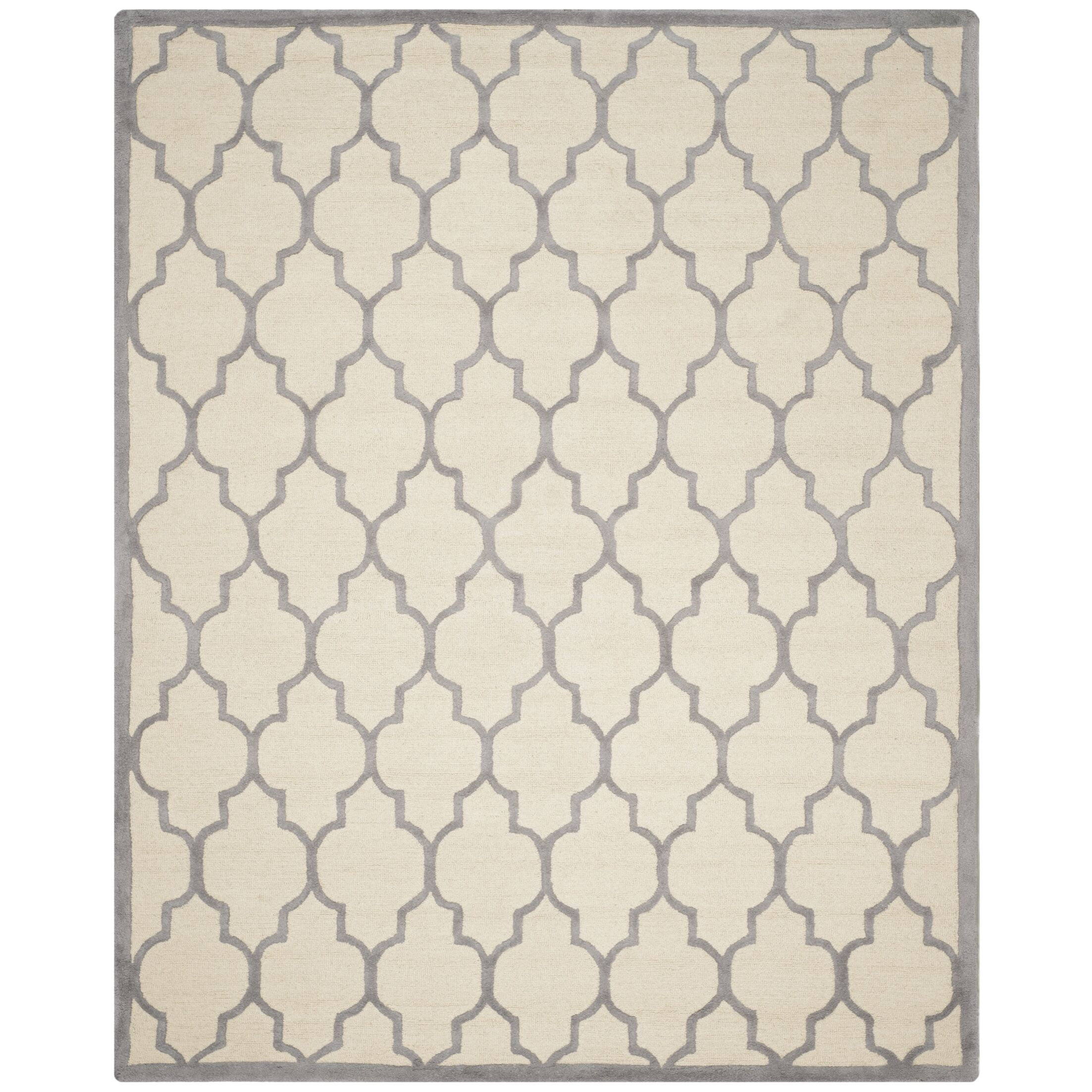 Charlenne Hand-Woven Wool Ivory/Silver Area Rug Rug Size: Runner 2'6
