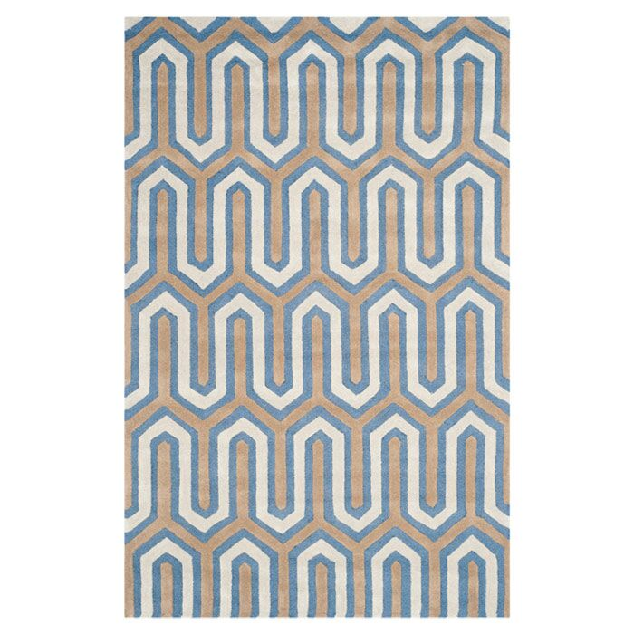 Martins Hand-Tufted Navy/Gray Area Rug Rug Size: Rectangle 5' x 8'