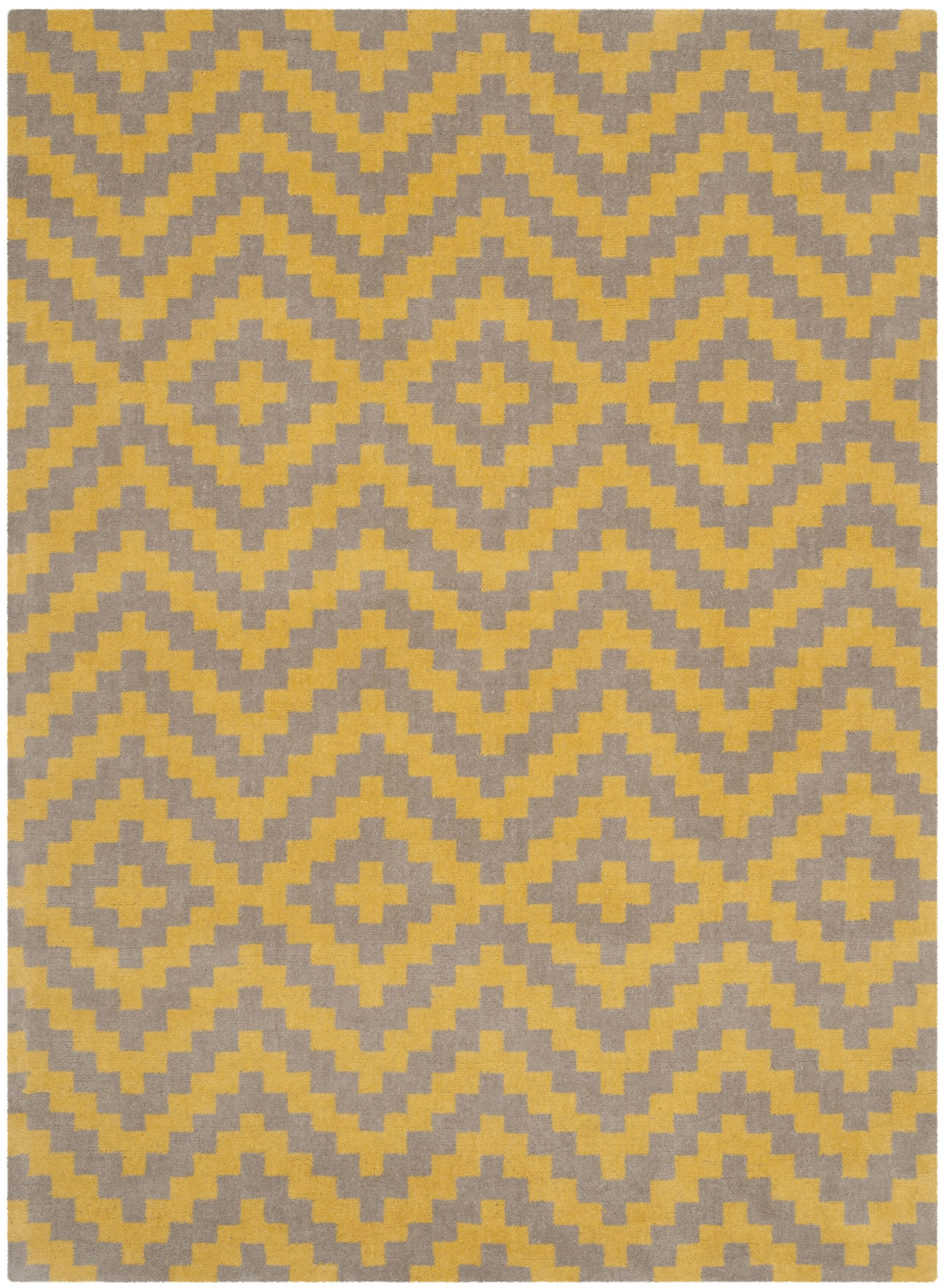 Martins Hand-Tufted Taupe/Gold Area Rug Rug Size: Rectangle 8' x 10'