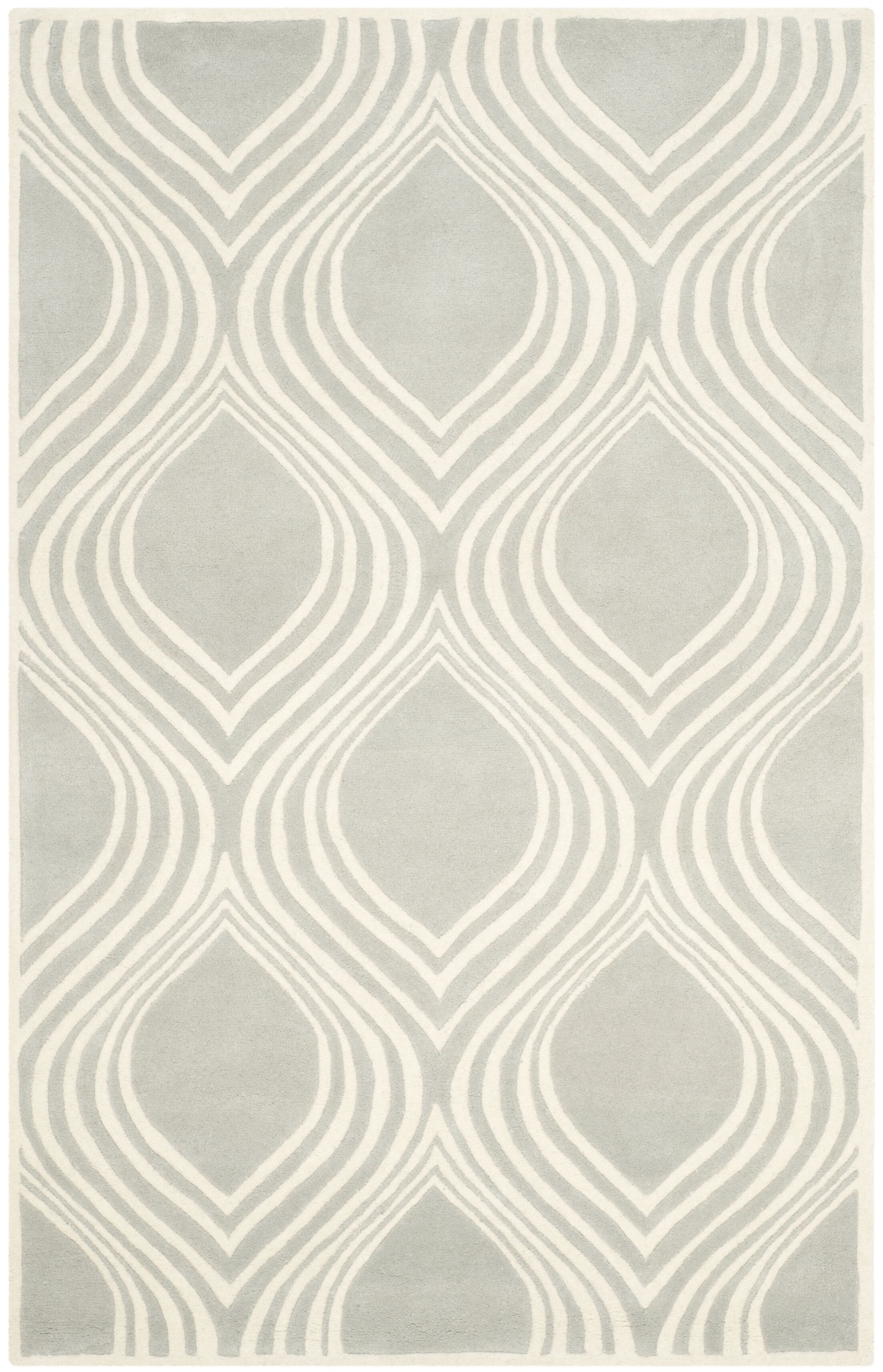 Wilkin Gray/Ivory Area Rug Rug Size: Rectangle 8' x 10'