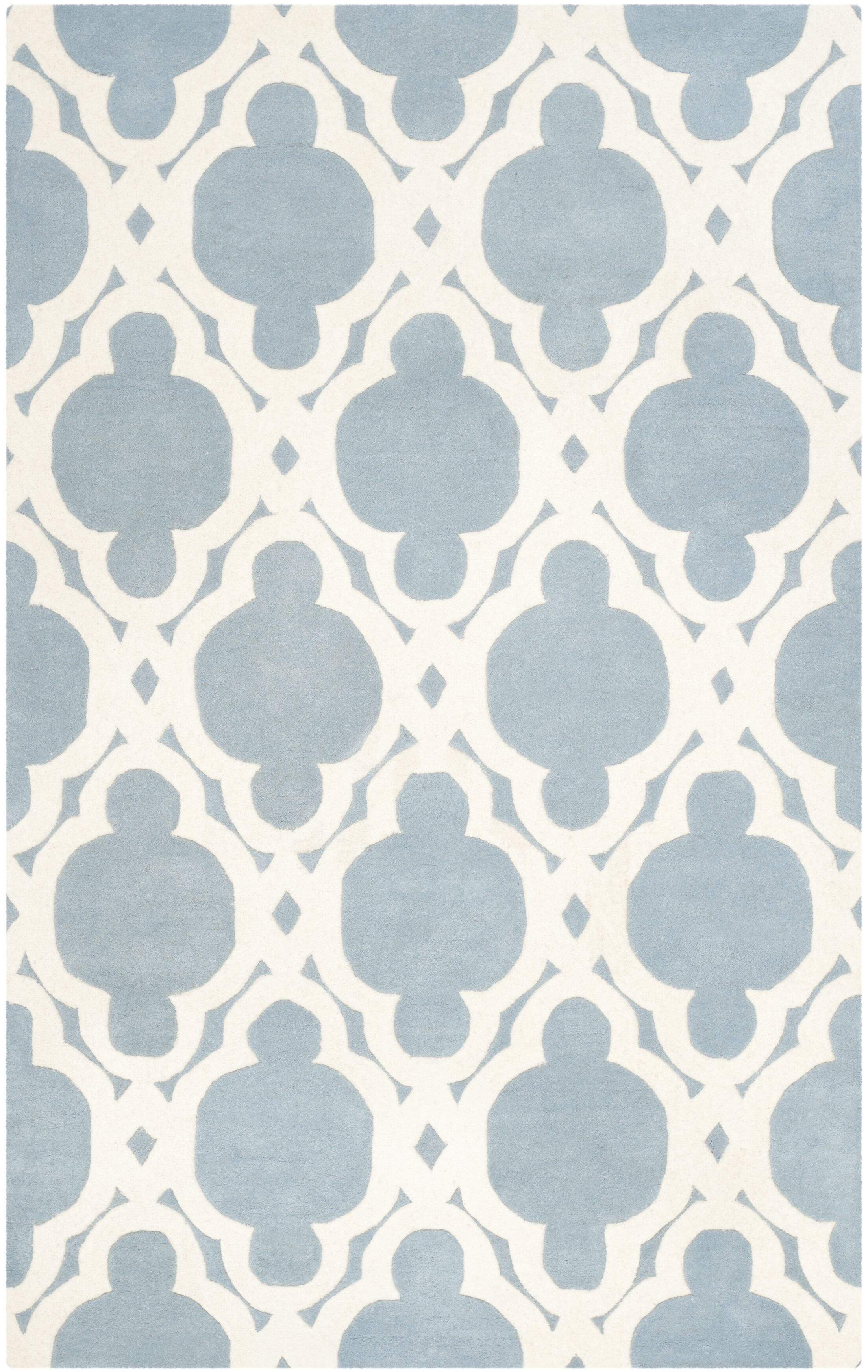 Wilkin Blue/Ivory Area Rug Rug Size: Rectangle 6' x 9'