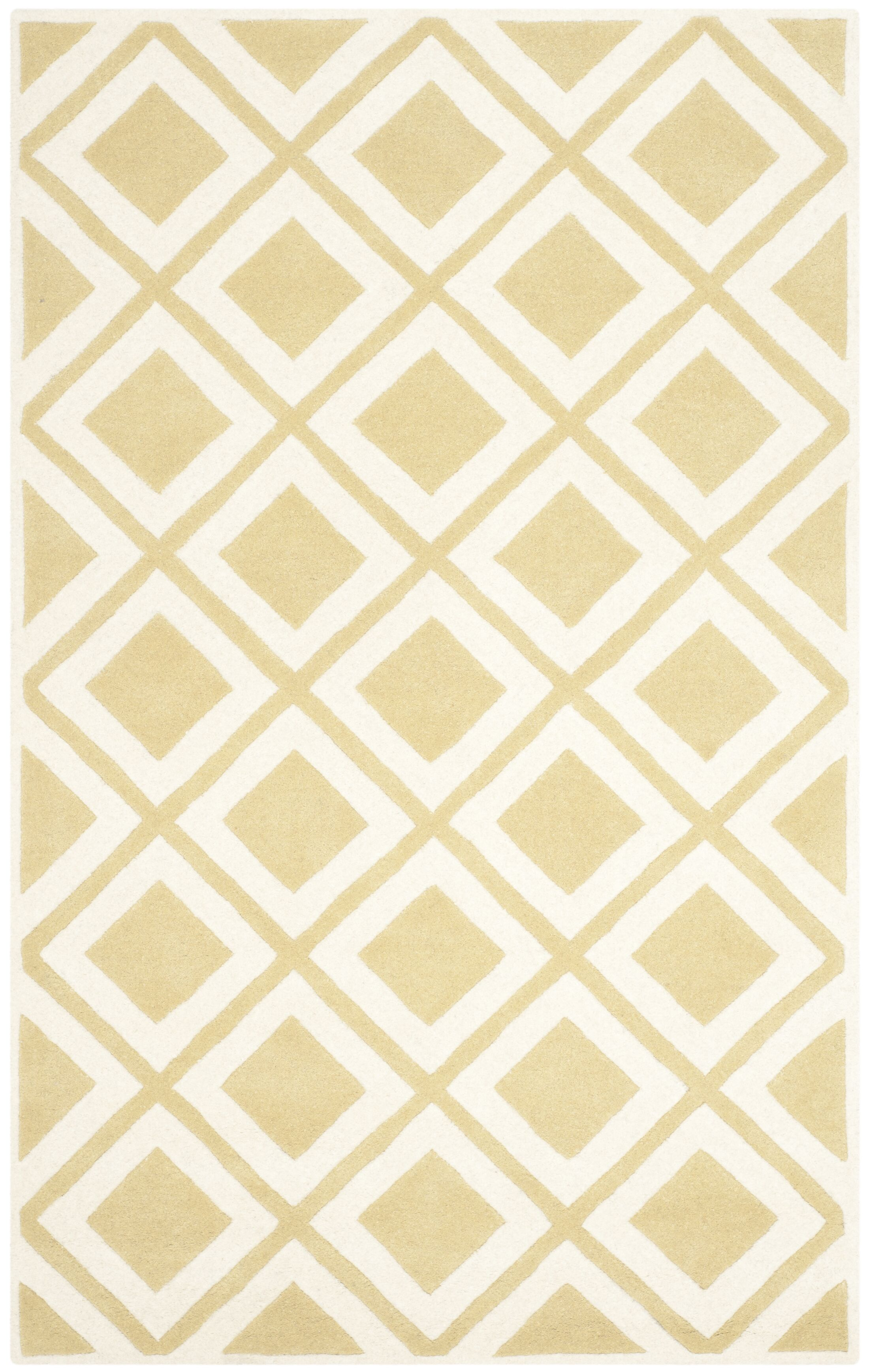 Wilkin Gold/Ivory Area Rug Rug Size: Rectangle 4' x 6'