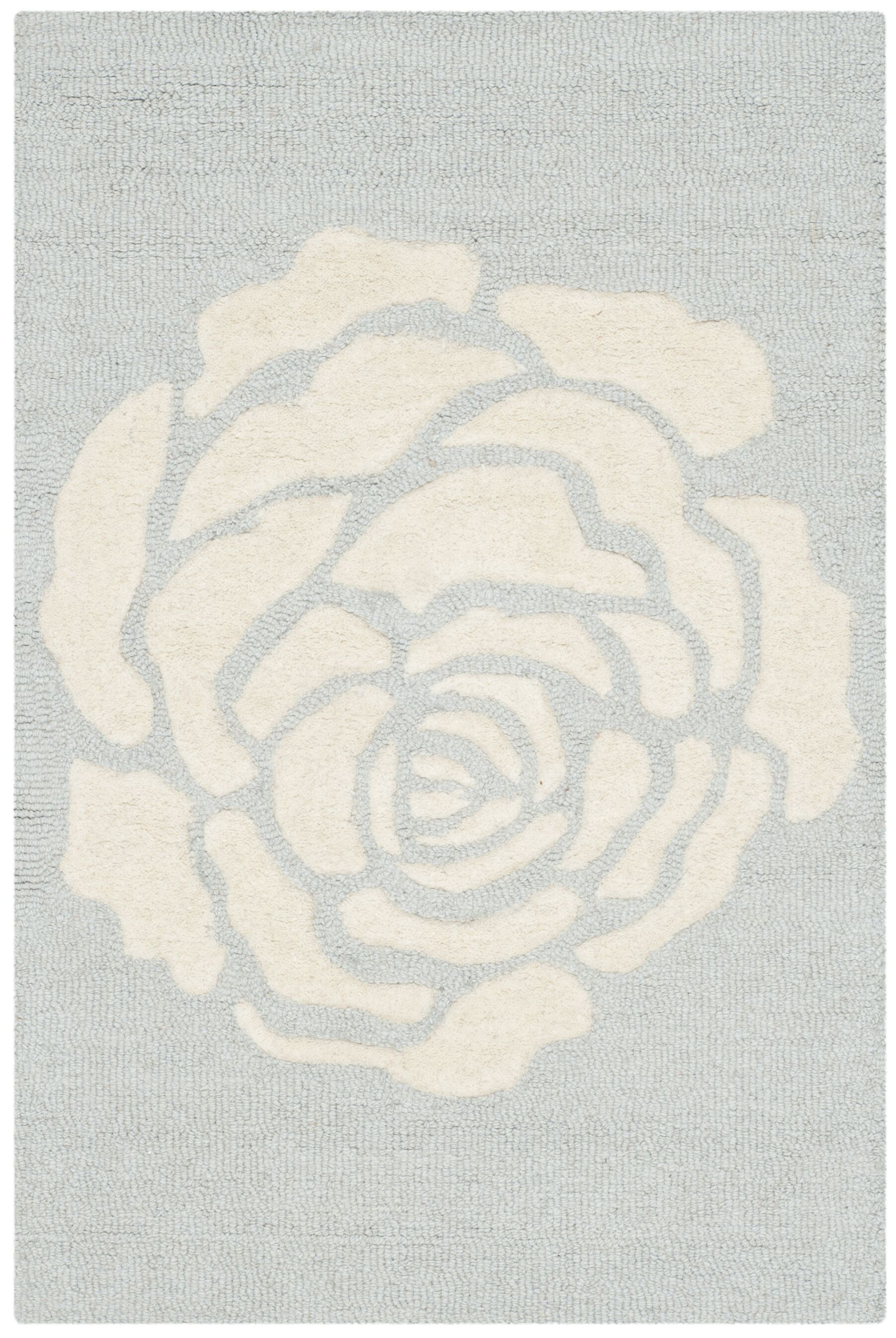 Martins Gray/Ivory Area Rug Rug Size: Rectangle 4' x 6'