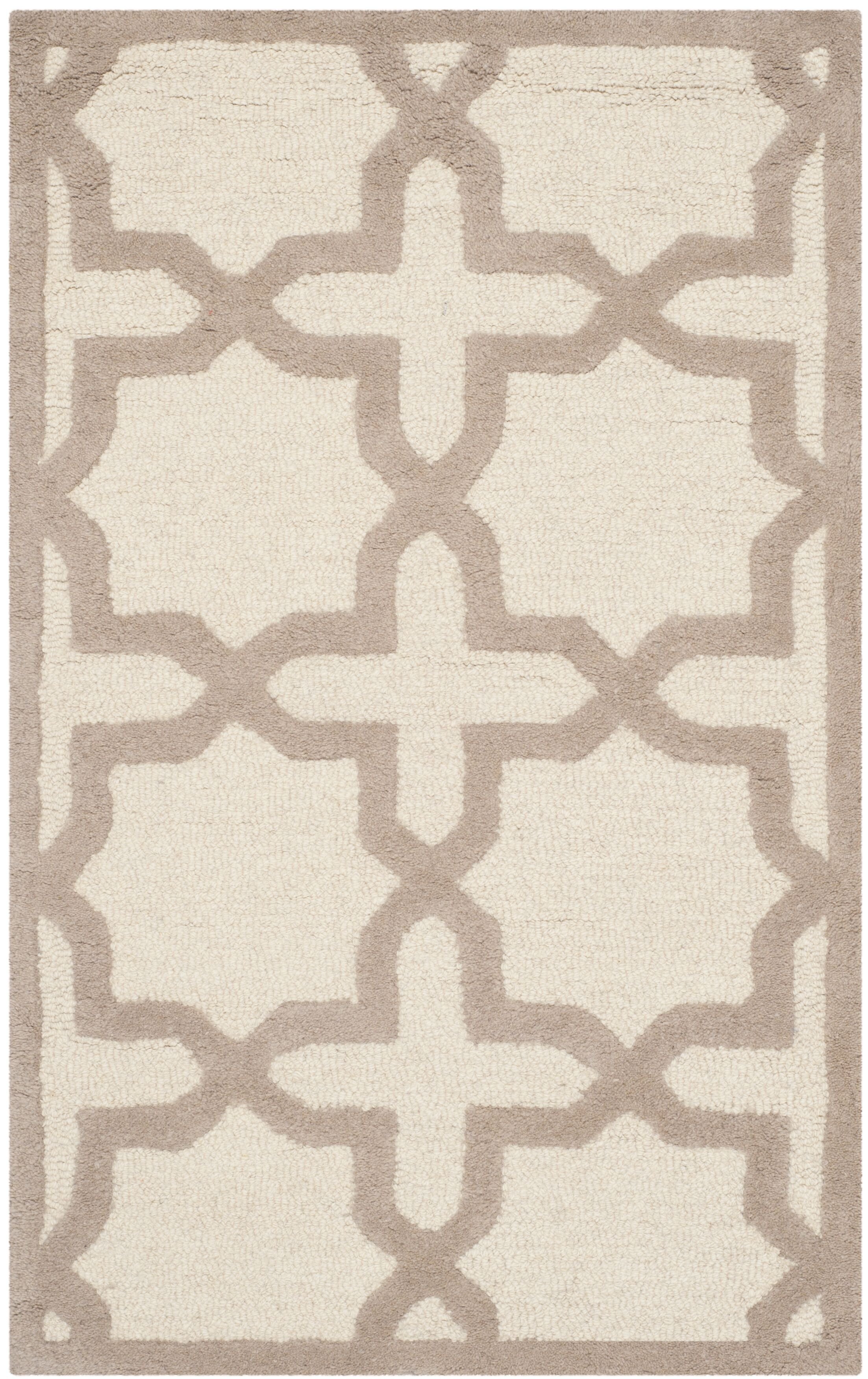Martins Ivory / Beige Area Rug Rug Size: Rectangle 5' x 8'
