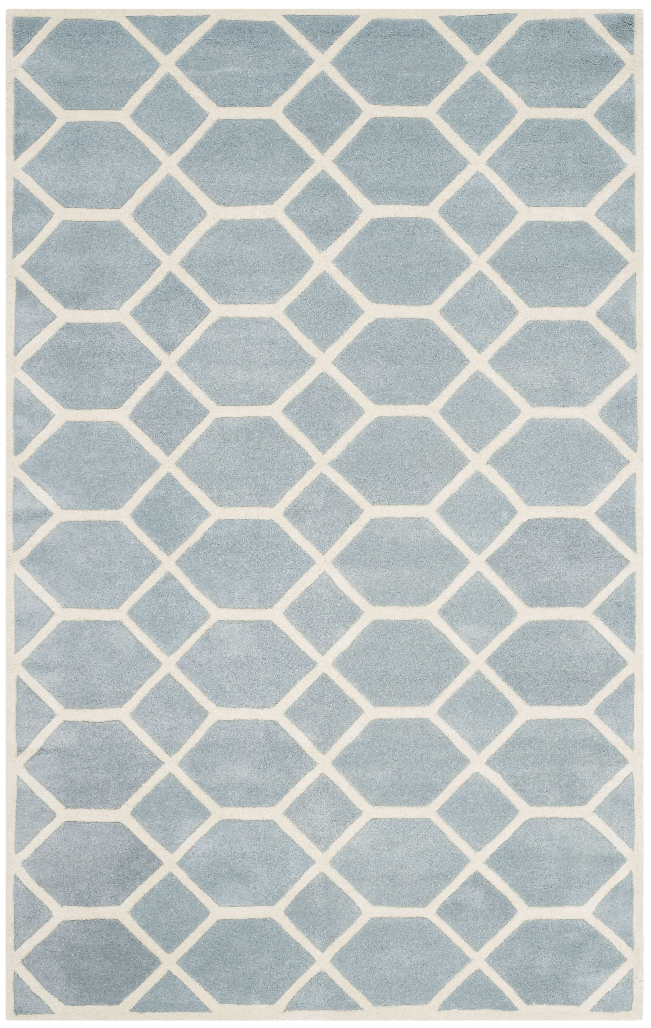 Wilkin Blue / Ivory Area Rug Rug Size: Rectangle 4' x 6'