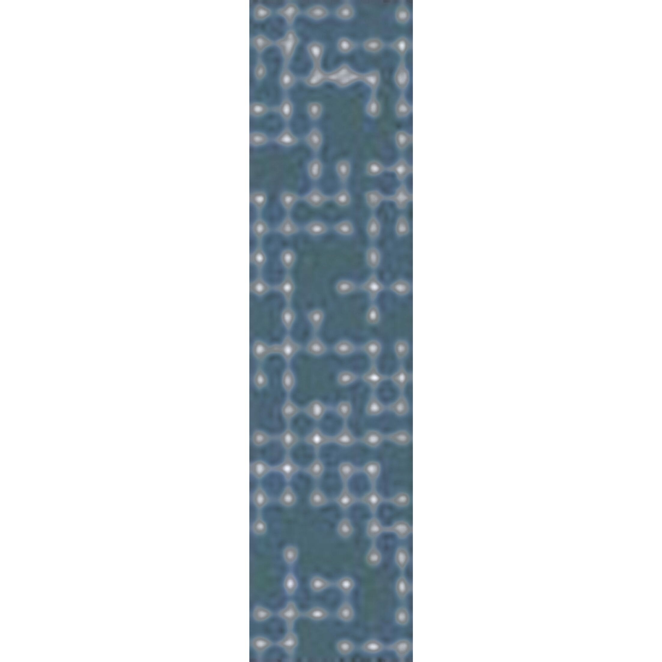 Serpentis Hand-Hooked Bright Blue/Sage Area Rug Rug Size: Runner 2'6