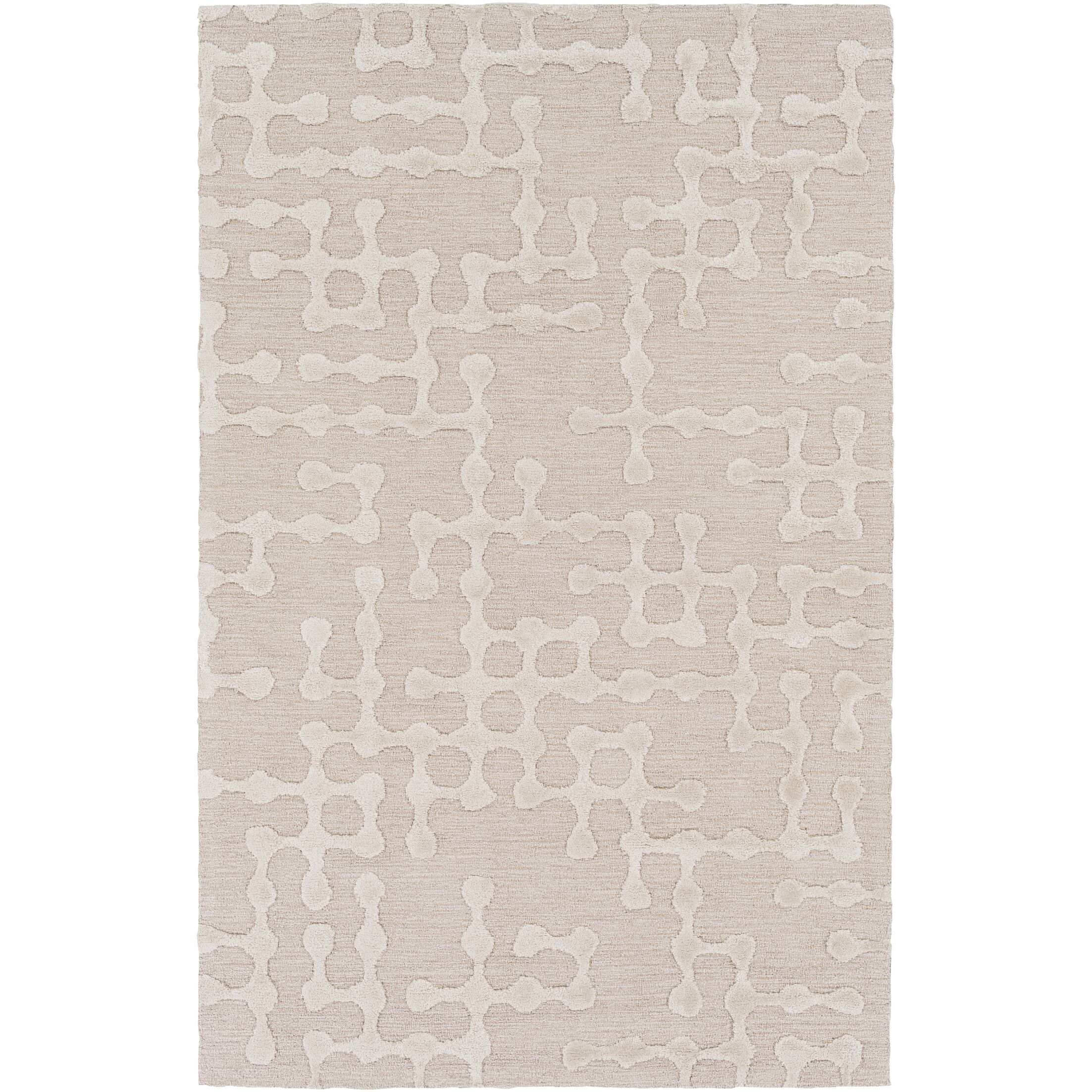 Serpentis Hand-Hooked Beige/Ivory Area Rug Rug Size: Rectangle 12' x 15'