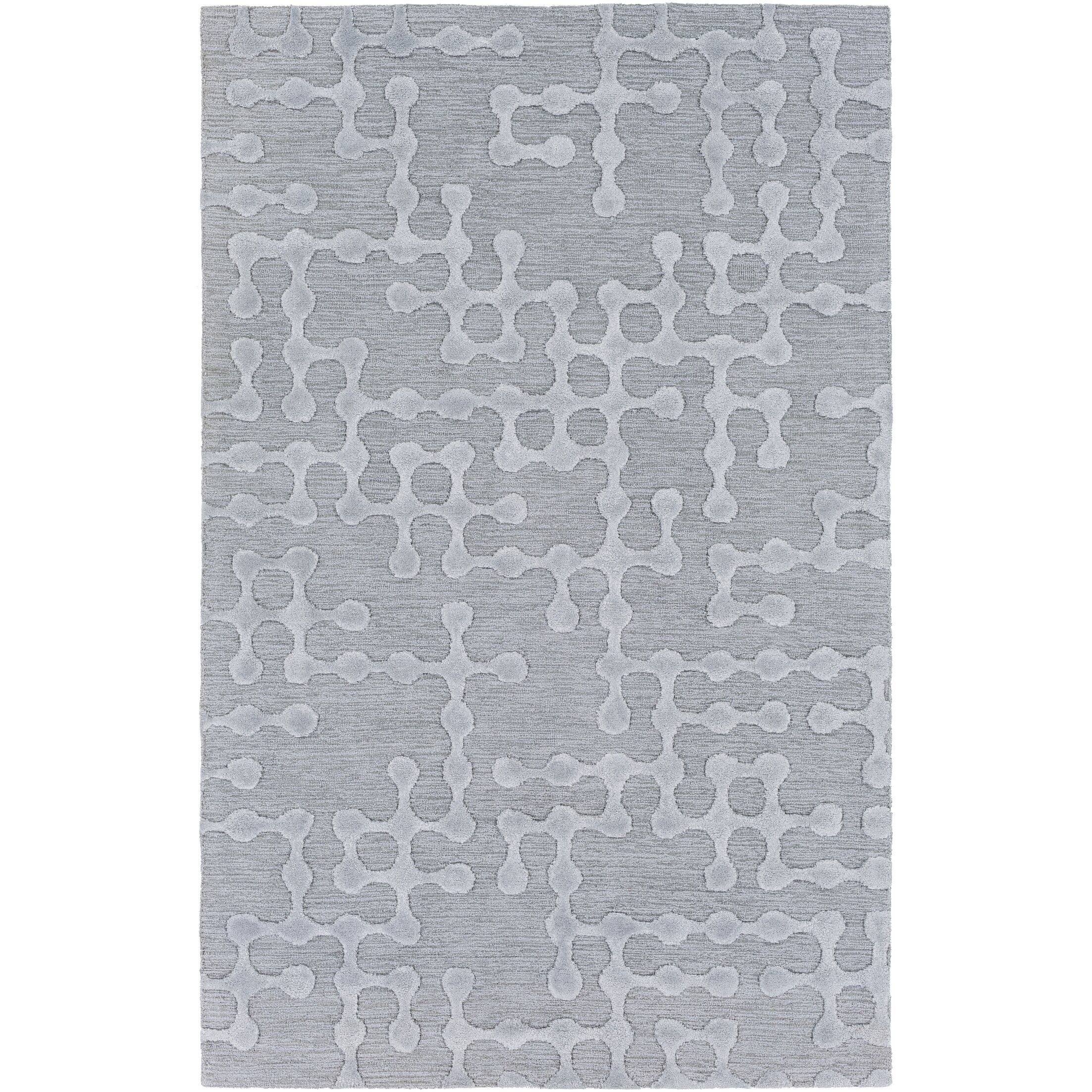 Serpentis Hand Woven Dark Purple/Taupe Area Rug Rug Size: Rectangle 6' x 9'