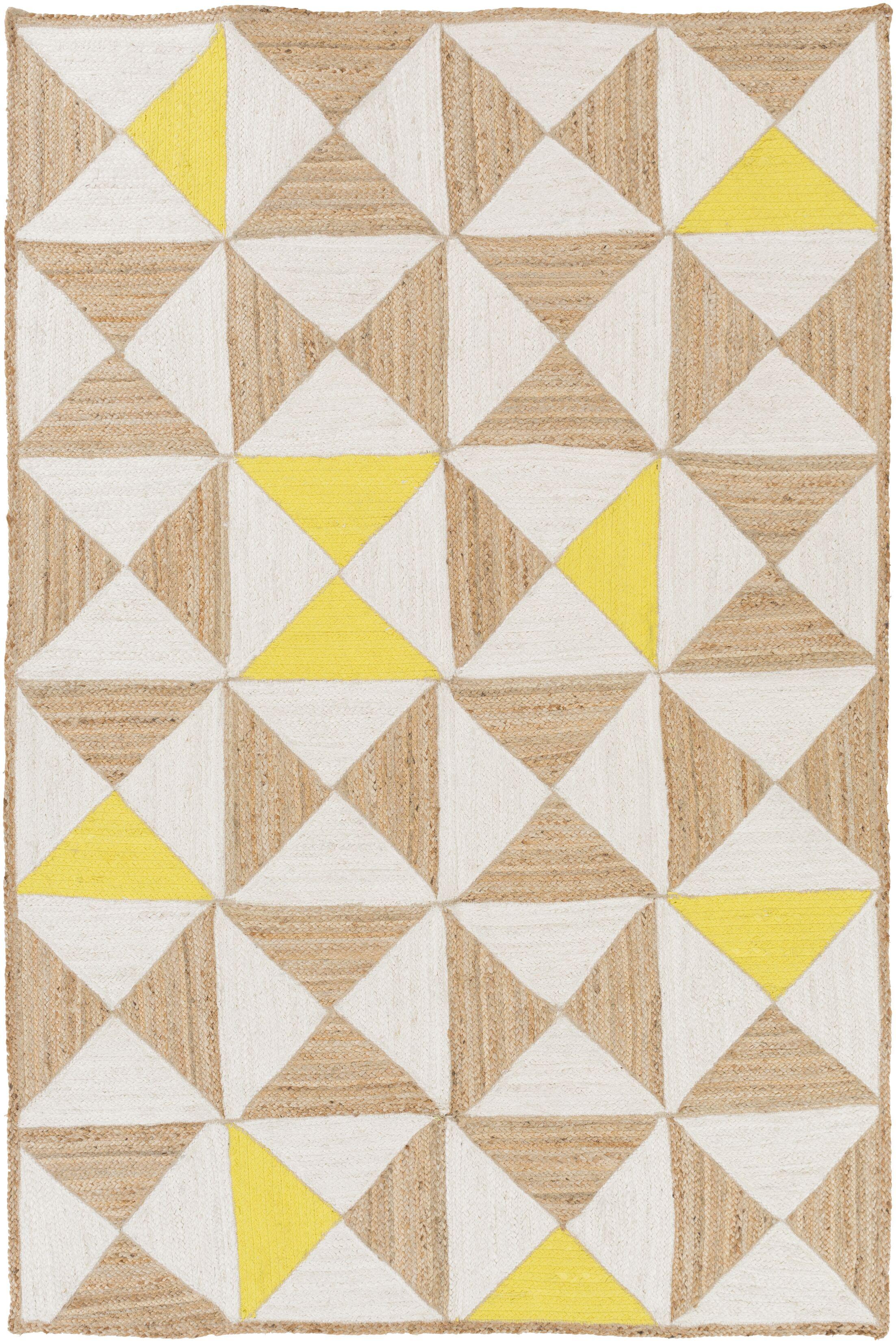 Sherrick Ivory Area Rug Rug Size: Rectangle 4' x 6'