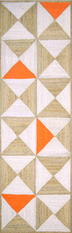 Sherrick Handmade Orange/Beige Area Rug Rug Size: Rectangle 8' x 10'