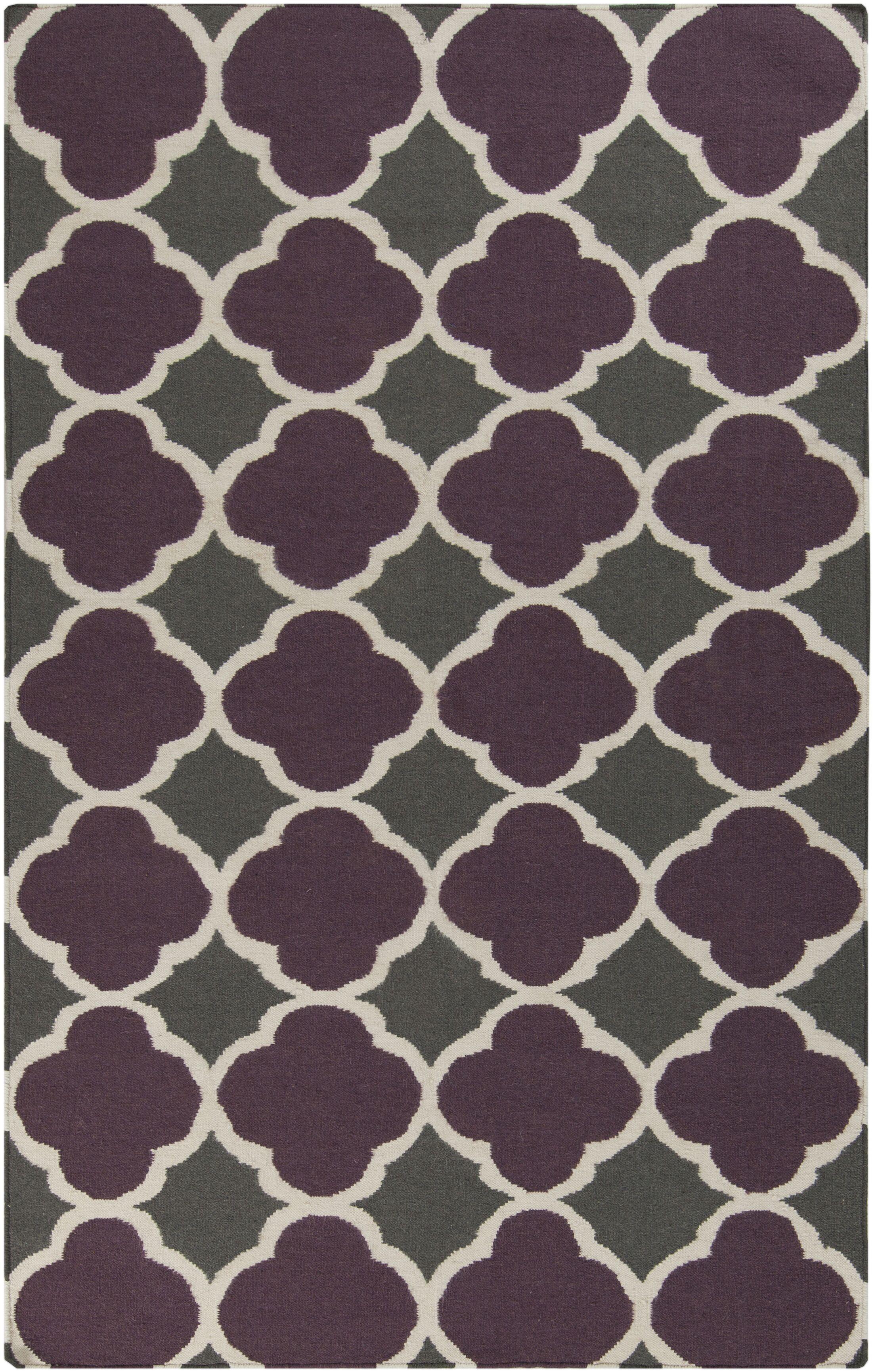 Donley Prune Purple Geometric Area Rug Rug Size: Rectangle 5' x 8'