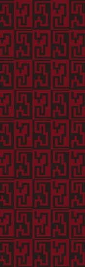 Donley Espresso & Venetian Red Geometric Area Rug Rug Size: Rectangle 3'6