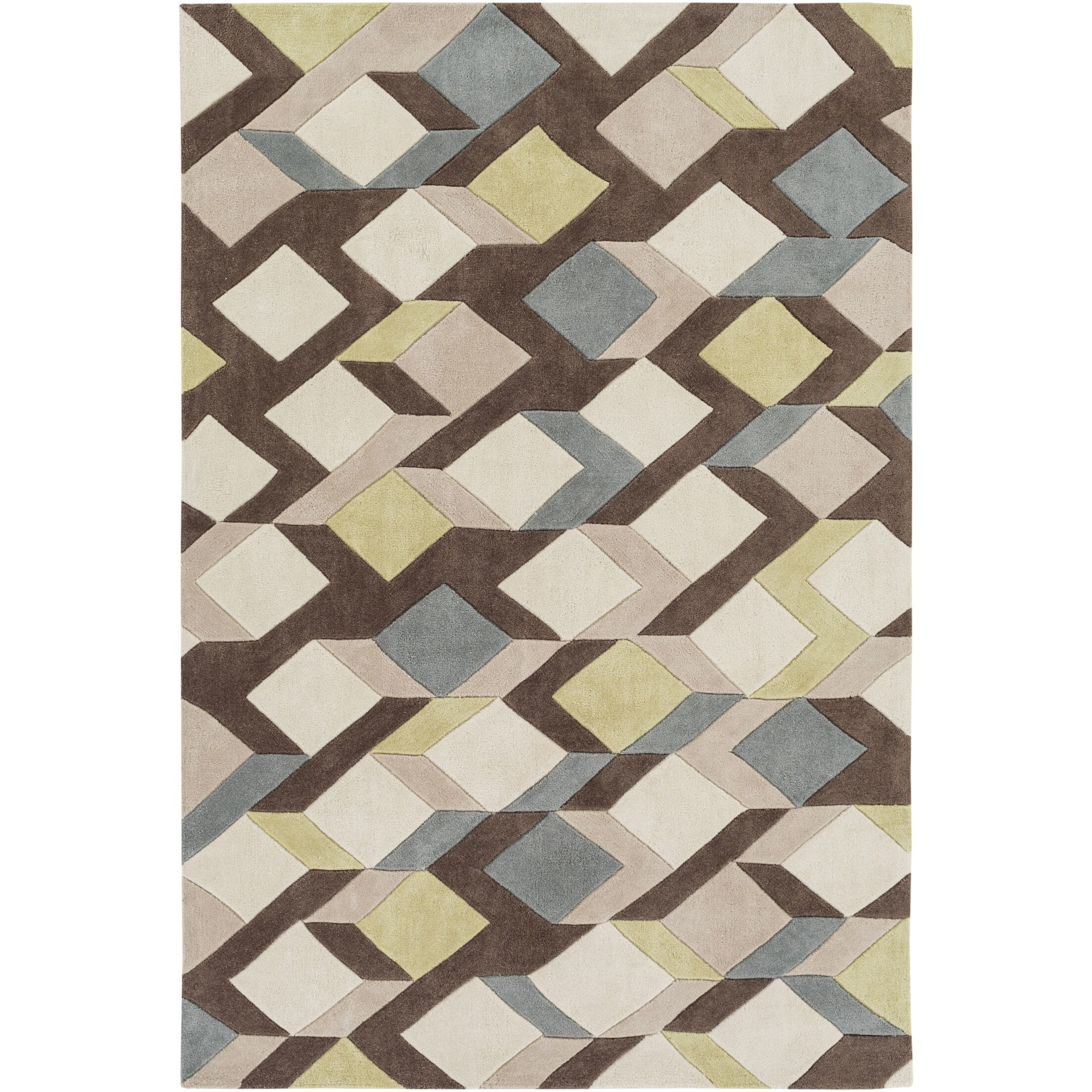 Conroy Hand-Tufted Area Rug Rug Size: Rectangle 3'6