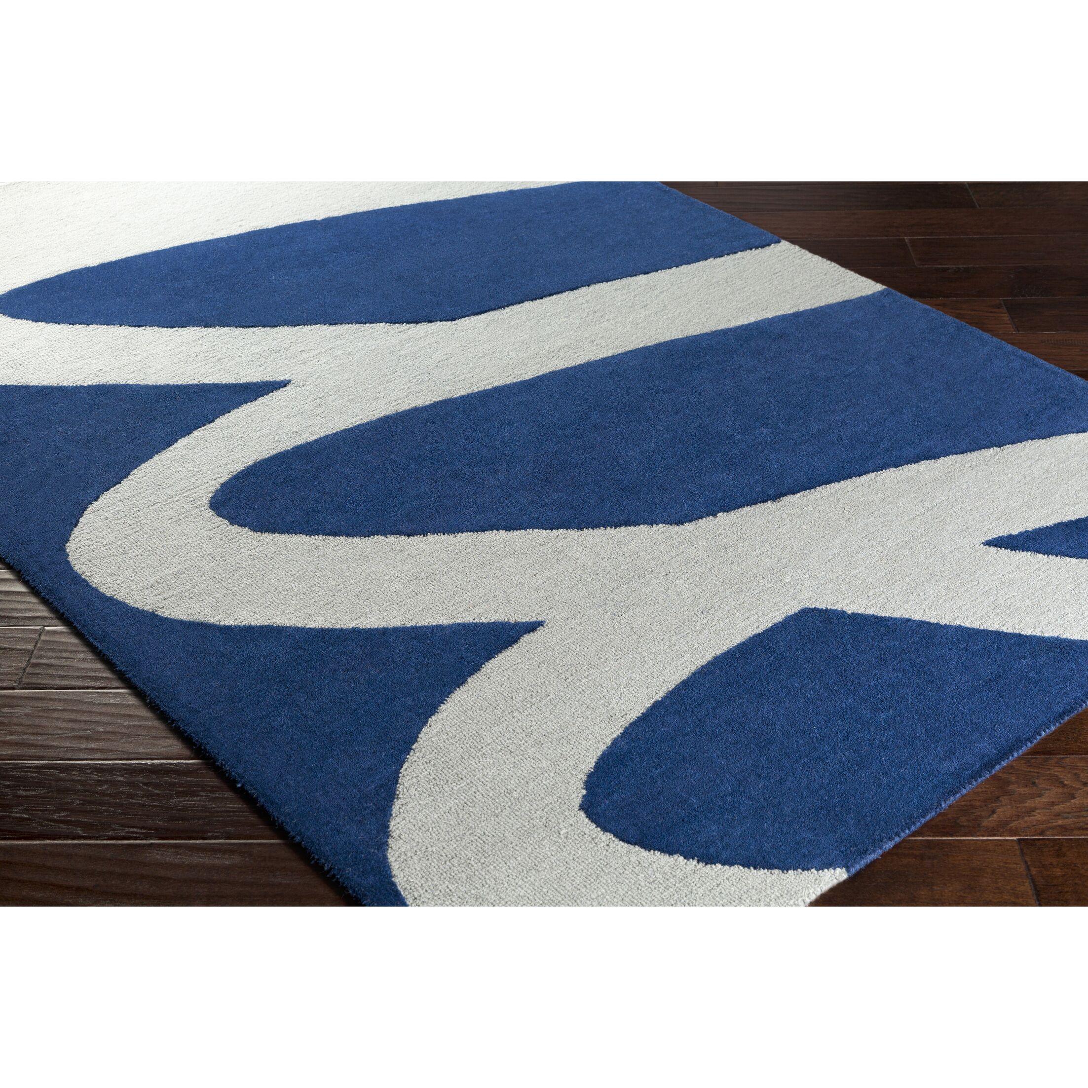 Nida Hand-Tufted Gray/Blue Area Rug Rug Size: Rectangle 8' x 10'
