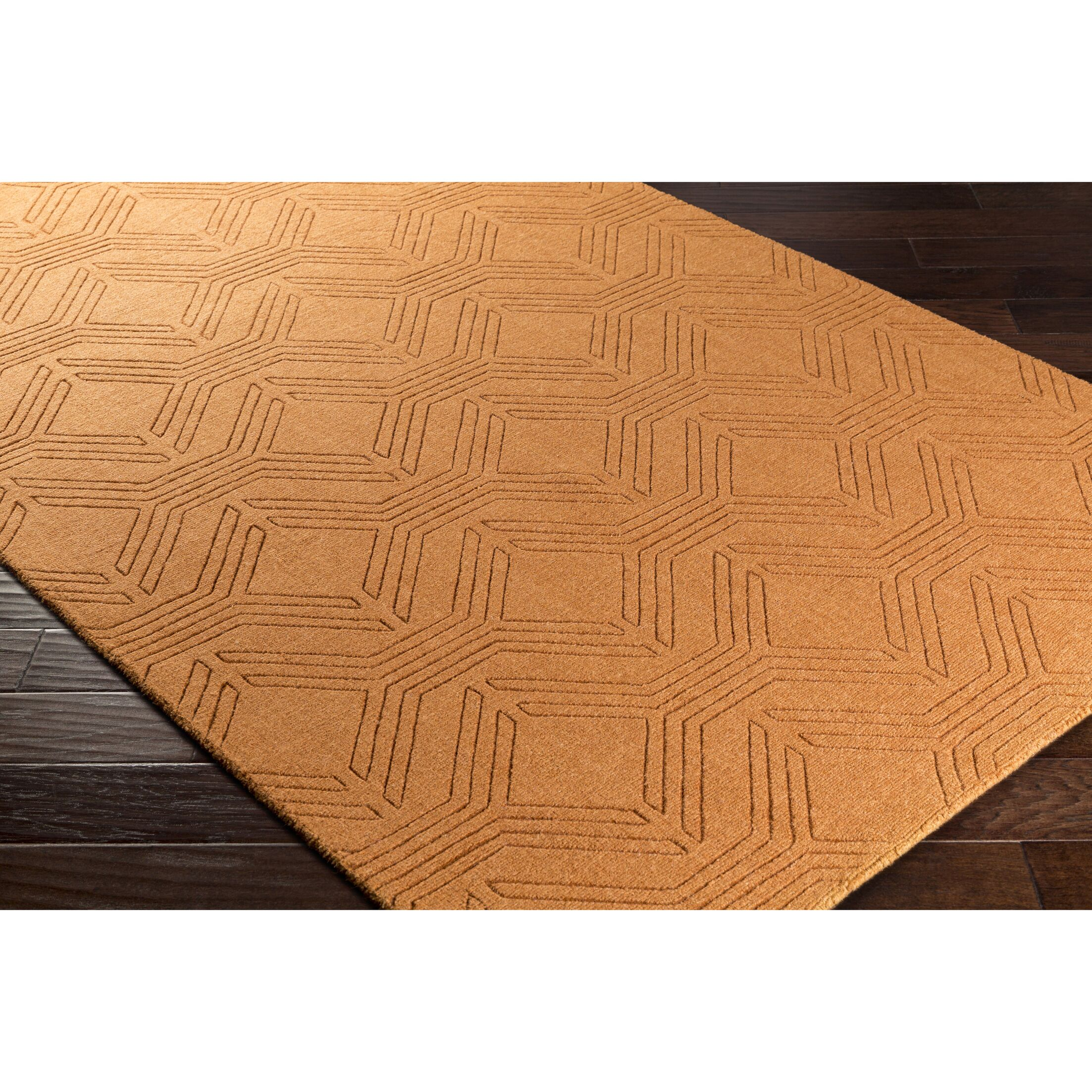 Belle Hand-Loomed Orange Area Rug Rug Size: Rectangle 5' x 7'6
