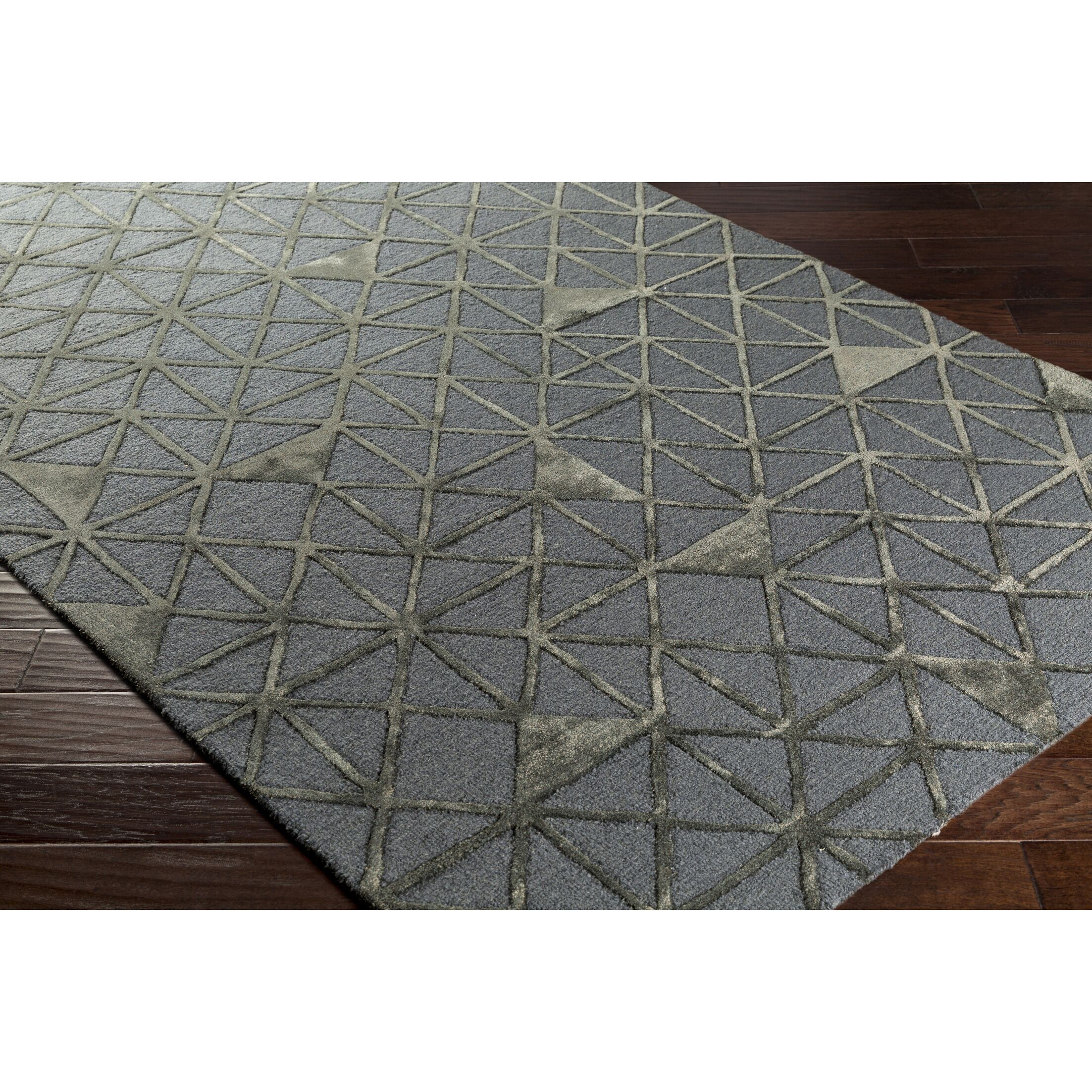Blandon Hand-Tufted Gray/Brown Area Rug Rug Size: Rectangle 5' x 7'6