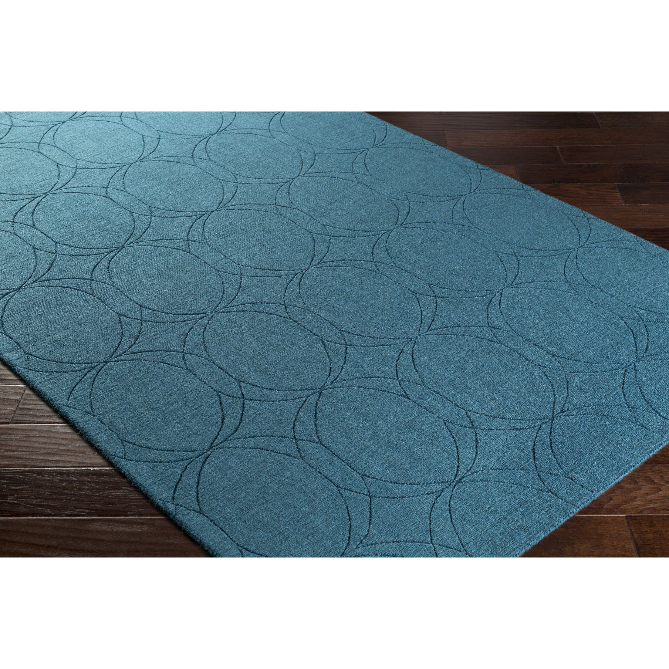 Belle Hand-Loomed Blue Area Rug Rug Size: Rectangle 5' x 7'6