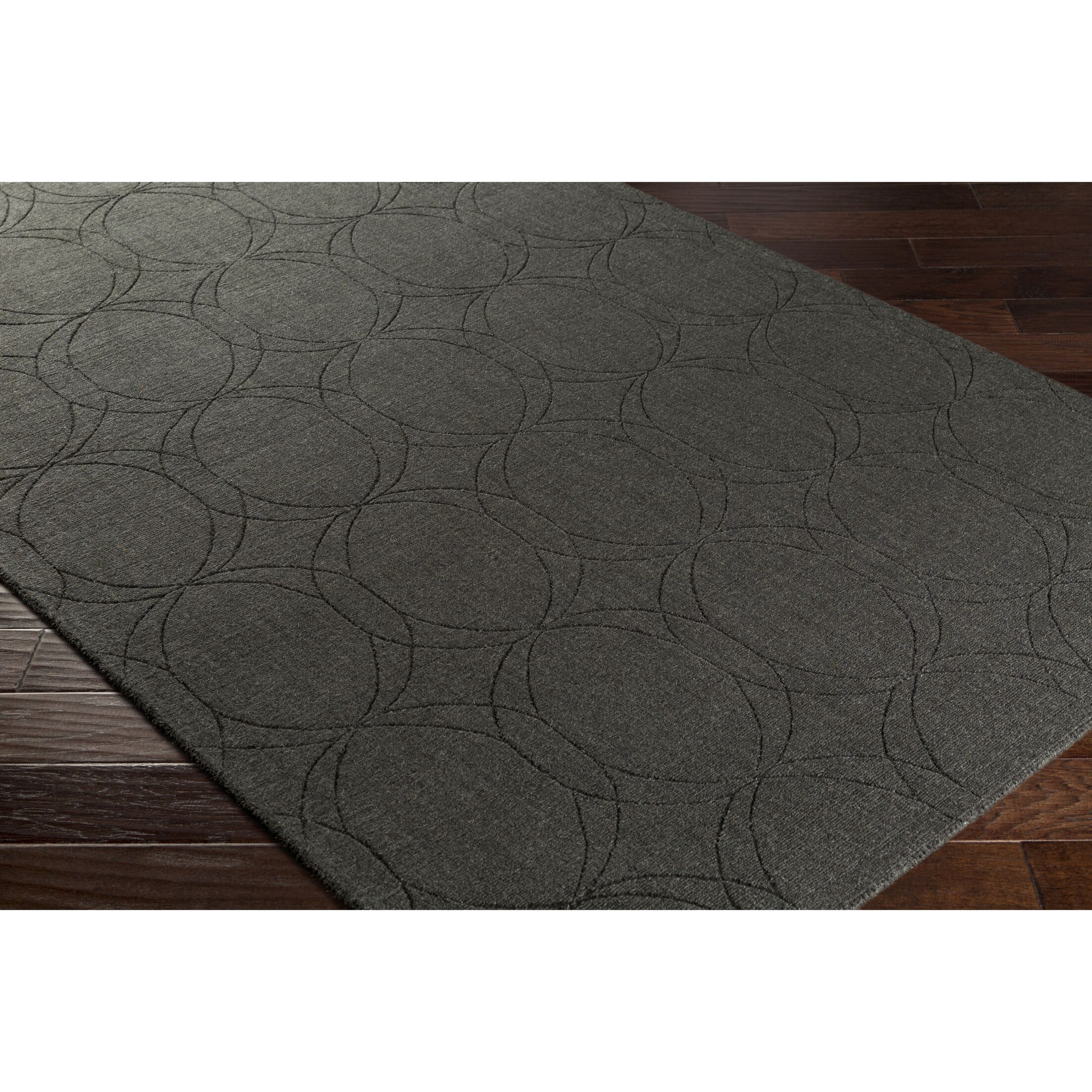 Belle Hand-Loomed Gray Area Rug Rug Size: Rectangle 5' x 7'6