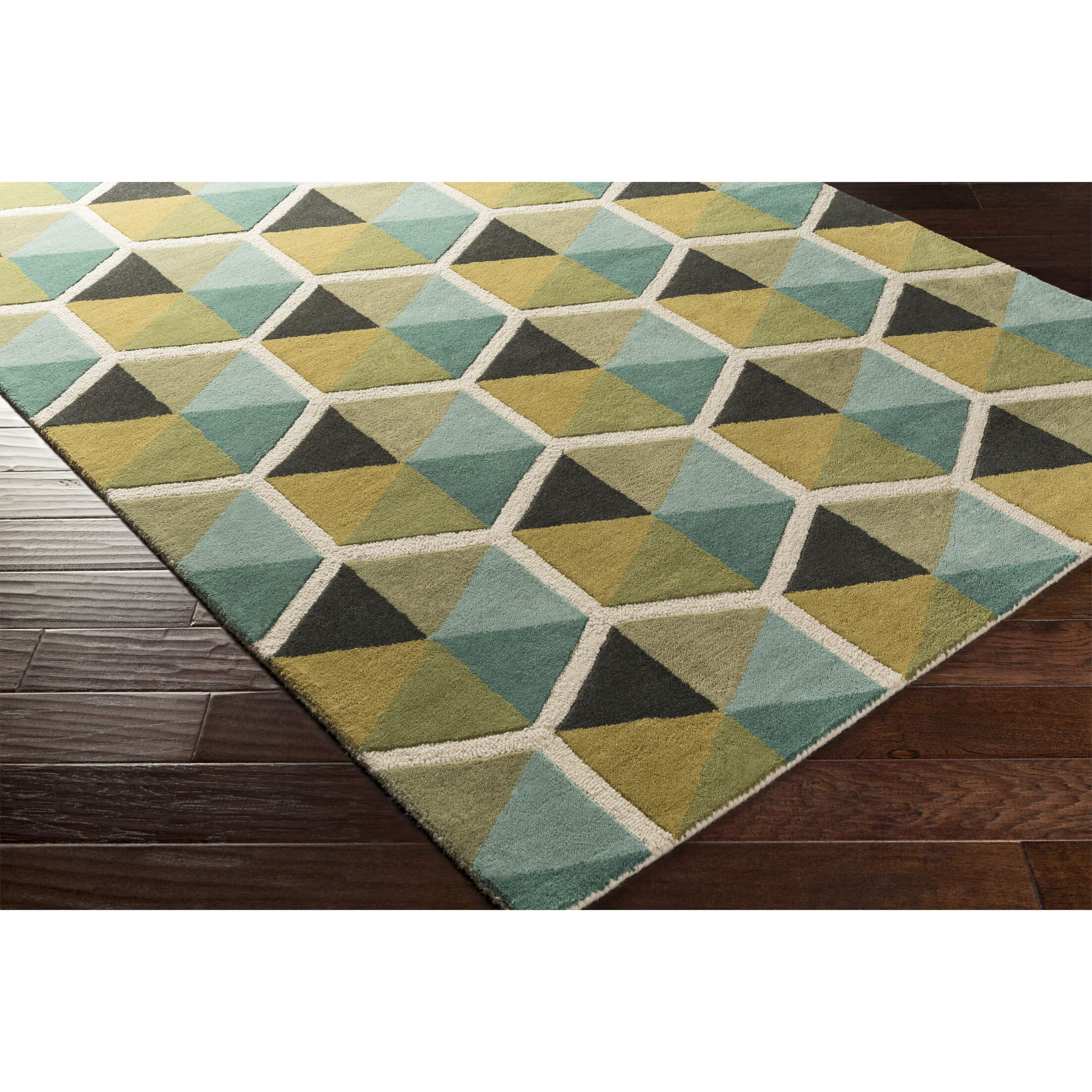 Nida Hand-Tufted Blue Area Rug Rug Size: Rectangle 8' x 10'