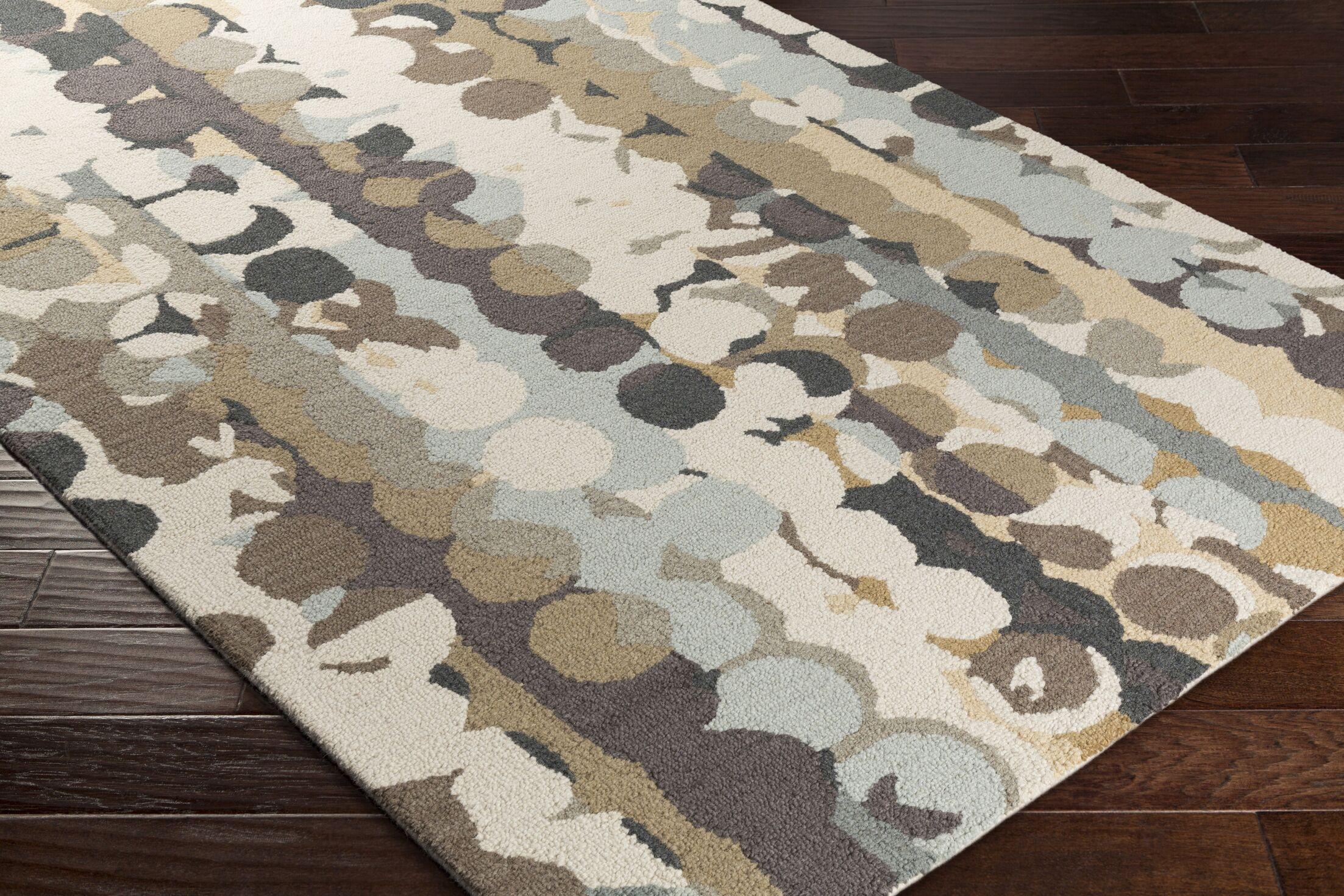Senger Hand-Tufted Beige/Brown Area Rug Rug Size: Rectangle 8' x 10'