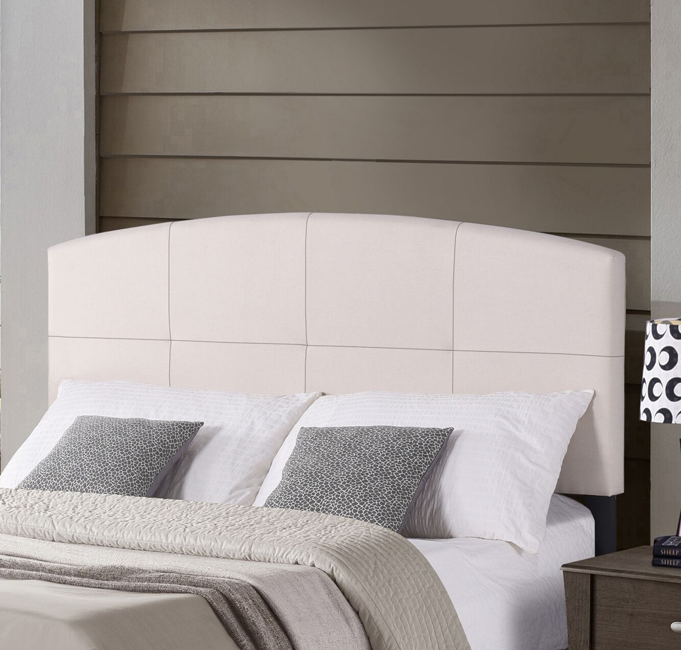 Leblanc Upholstered Panel Headboard Size: King, Color: Ecru