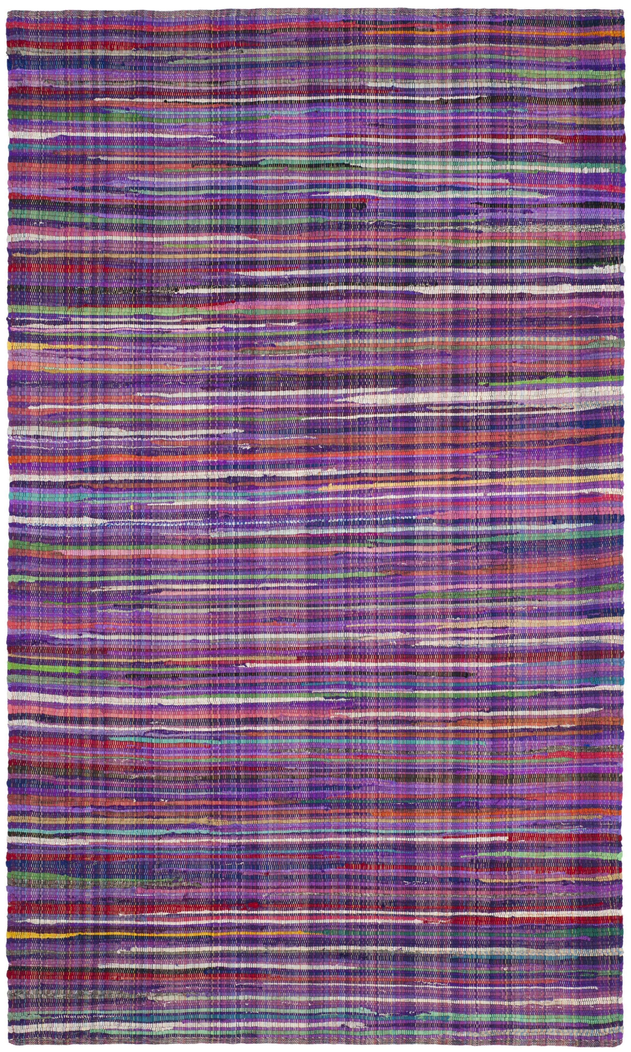 Shatzer Hand-Woven Purple Area Rug Rug Size: Rectangle 6' x 9'