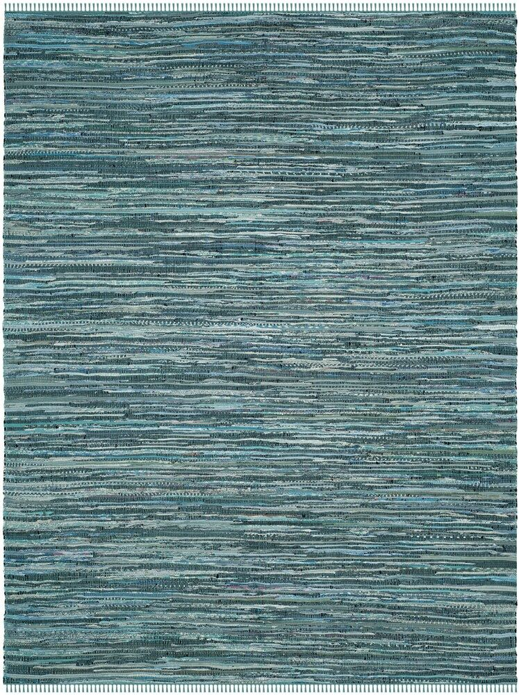 Shatzer Hand-Woven Turquoise Area Rug Rug Size: Runner 2'3