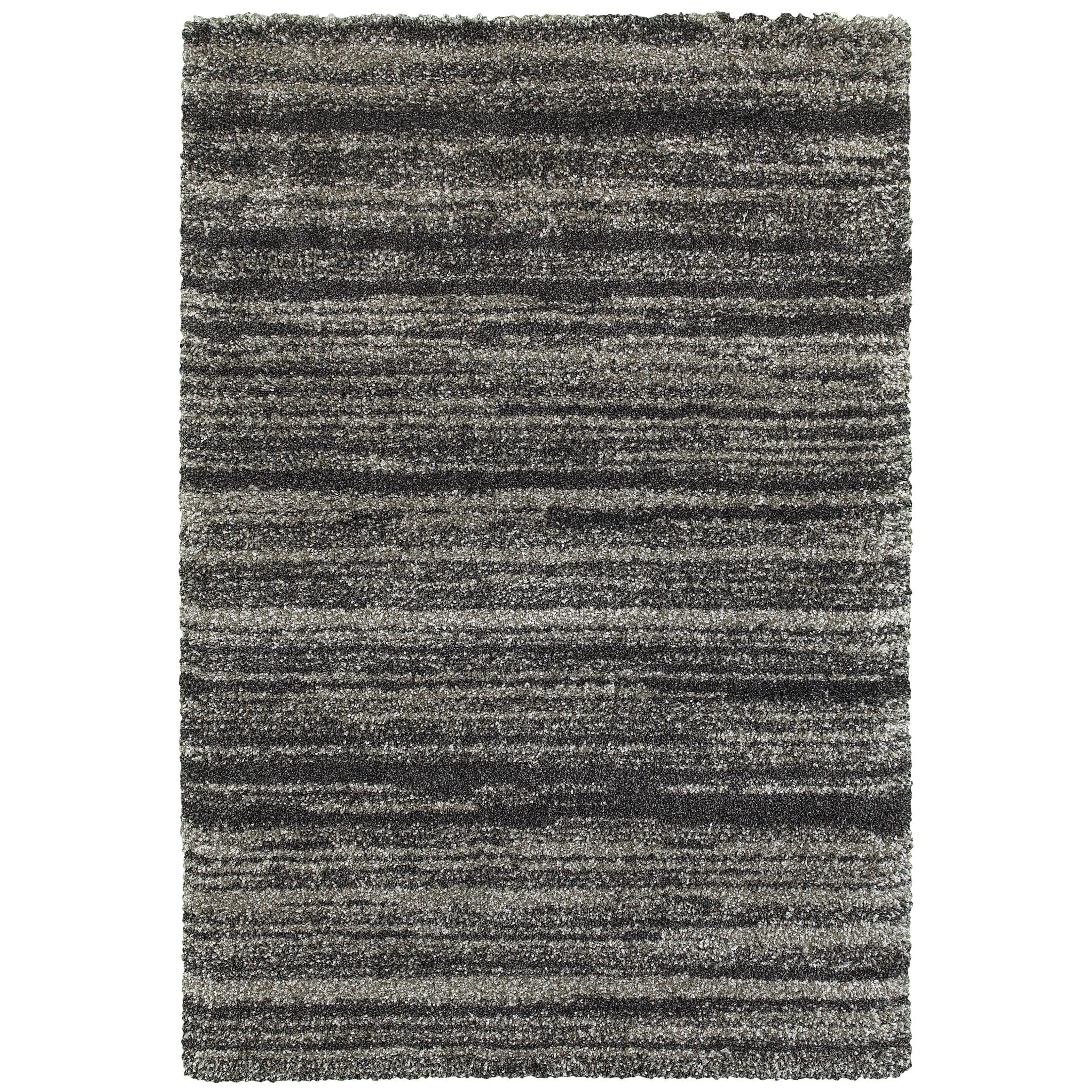Barnhart Gray/Charcoal Area Rug Size: Rectangle 5'3