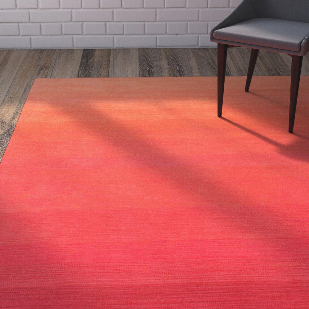 Santamaria Hand-Tufted Red Area Rug Rug Size: Rectangle 4' x 6'
