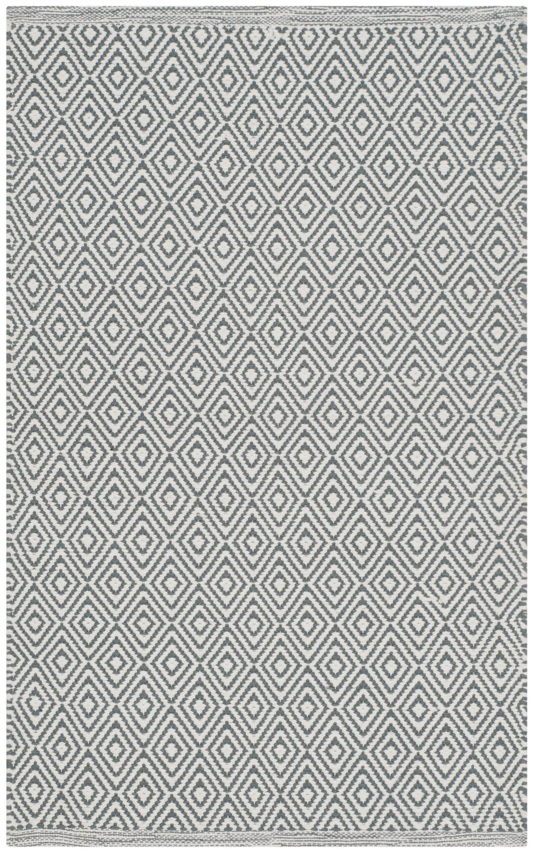 Shevchenko Place Hand-Woven Ivory/Gray Area Rug Rug Size: Rectangle 6' x 9'