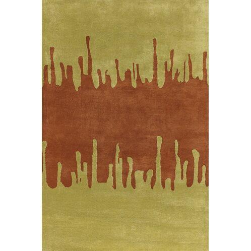 Votaw Green/Orange Area Rug Rug Size: Round 7'9