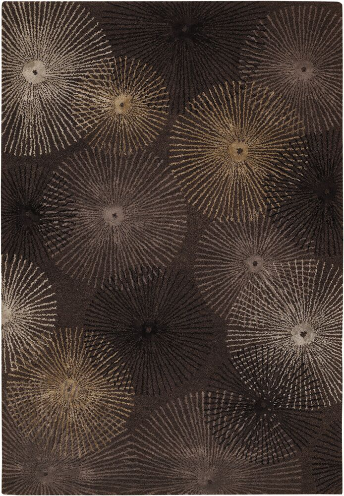 Sumlin Brown/Tan Area Rug Rug Size: Rectangle 2' x 3'